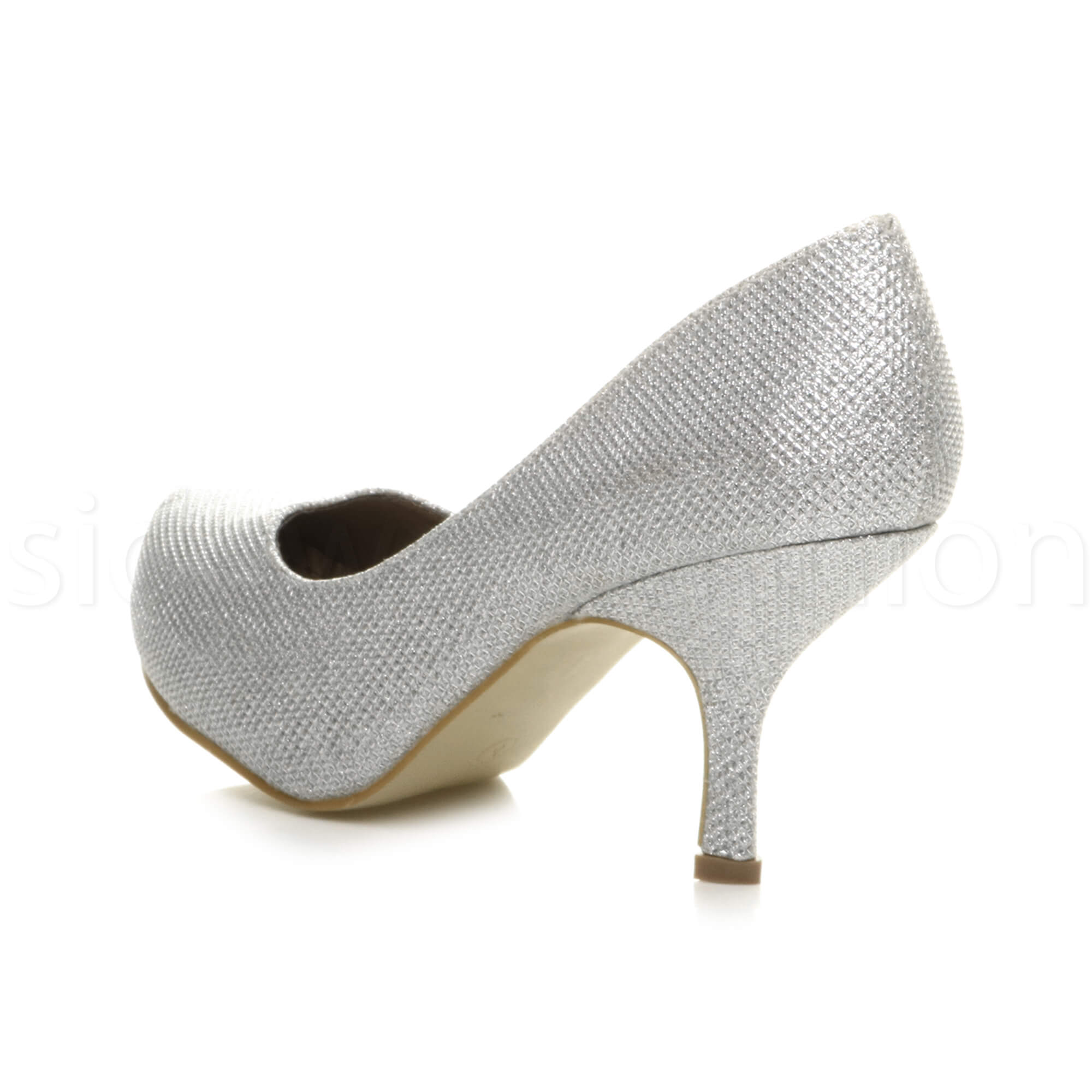 Womens-ladies-low-mid-heel-concealed-platform-work-party-court-shoes-pumps-size thumbnail 128