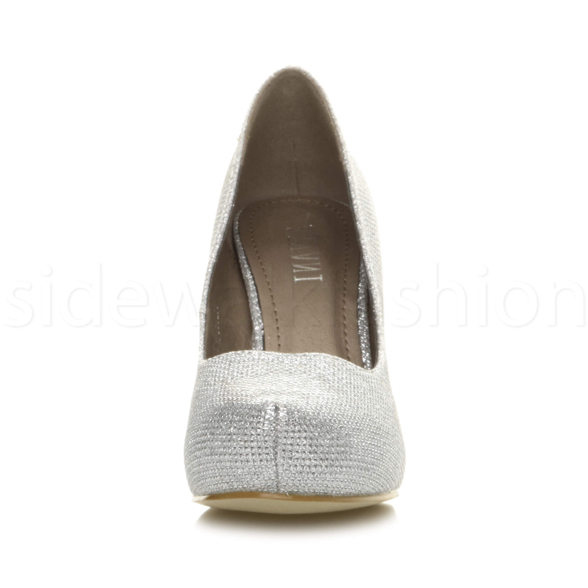 Womens-ladies-low-mid-heel-concealed-platform-work-party-court-shoes-pumps-size thumbnail 130