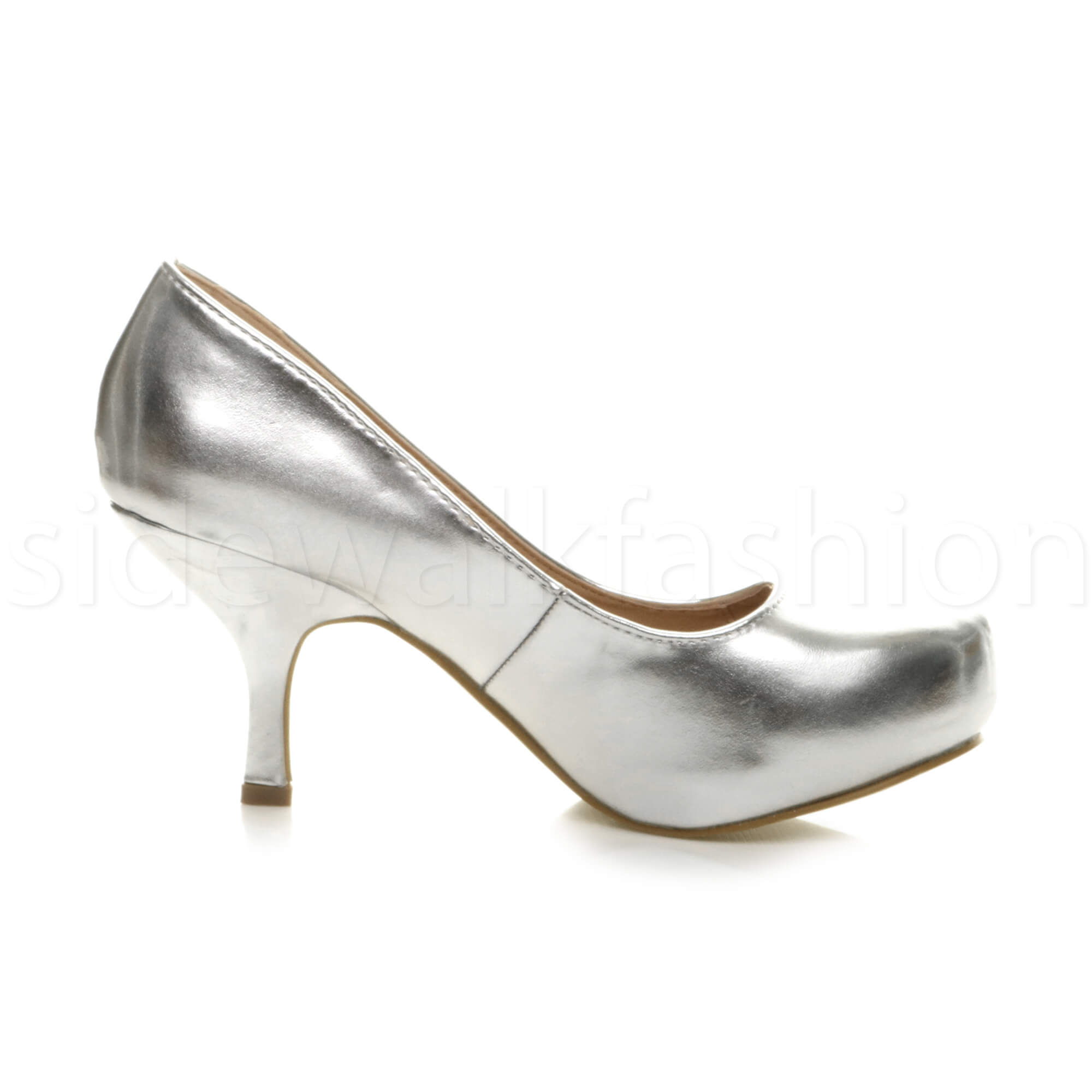 Womens-ladies-low-mid-heel-concealed-platform-work-party-court-shoes-pumps-size thumbnail 138