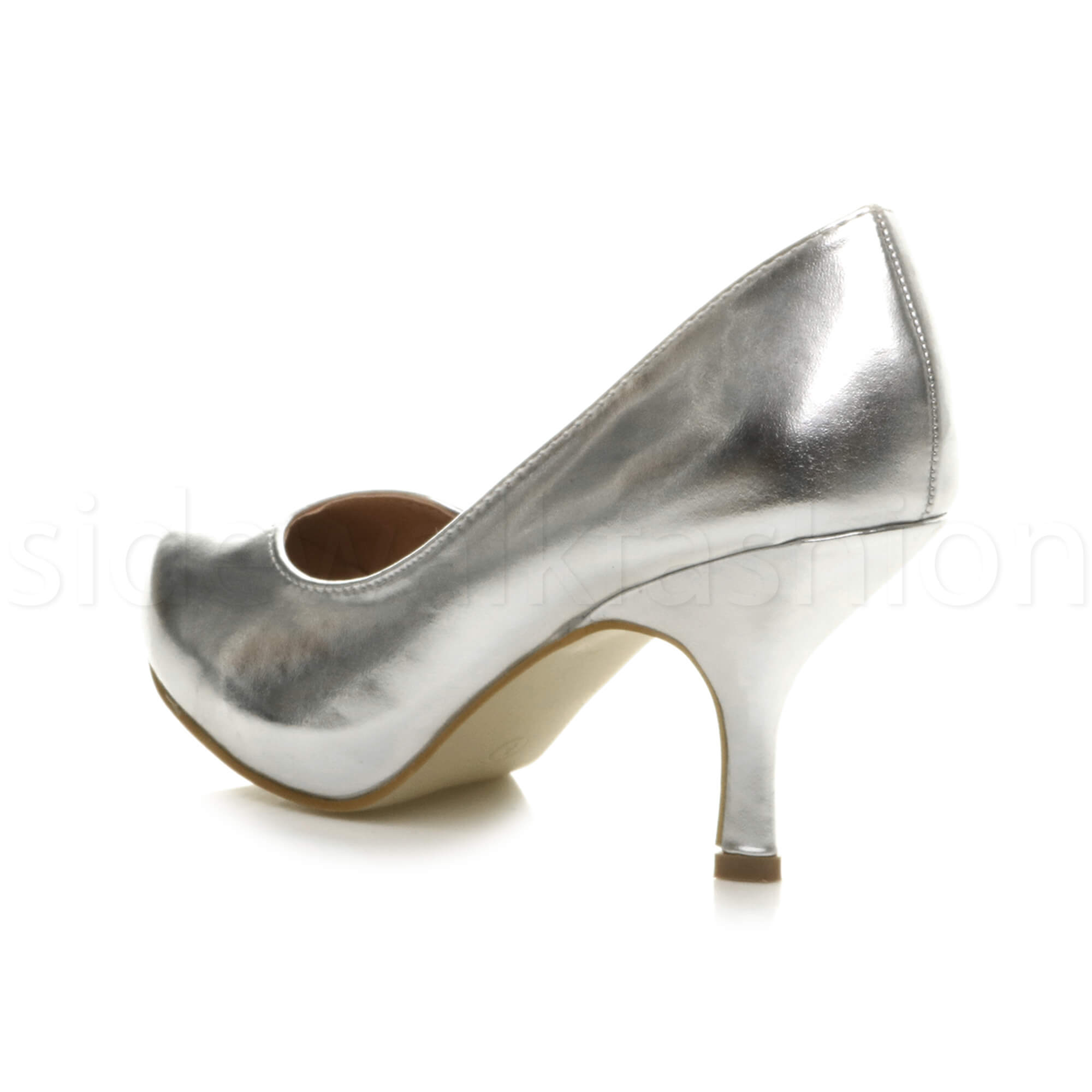 Womens-ladies-low-mid-heel-concealed-platform-work-party-court-shoes-pumps-size thumbnail 139