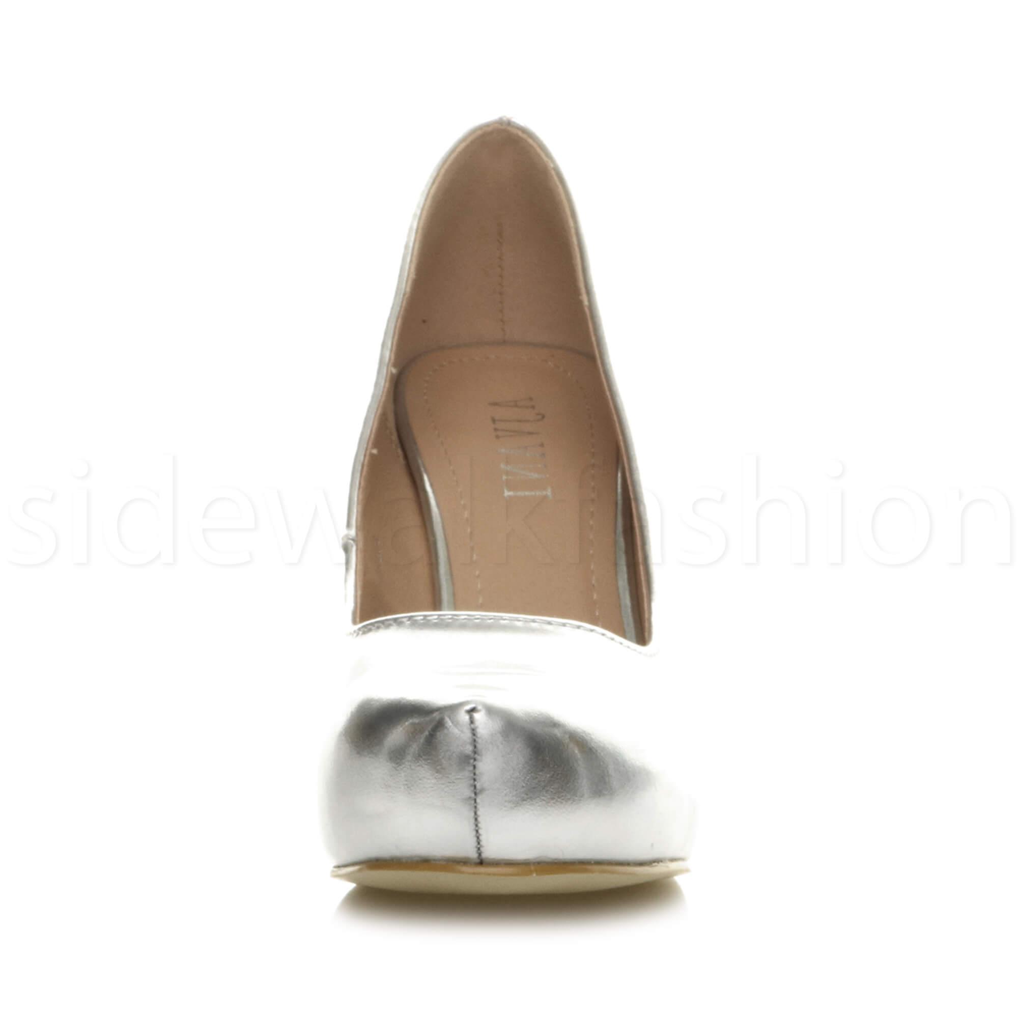 Womens-ladies-low-mid-heel-concealed-platform-work-party-court-shoes-pumps-size thumbnail 141