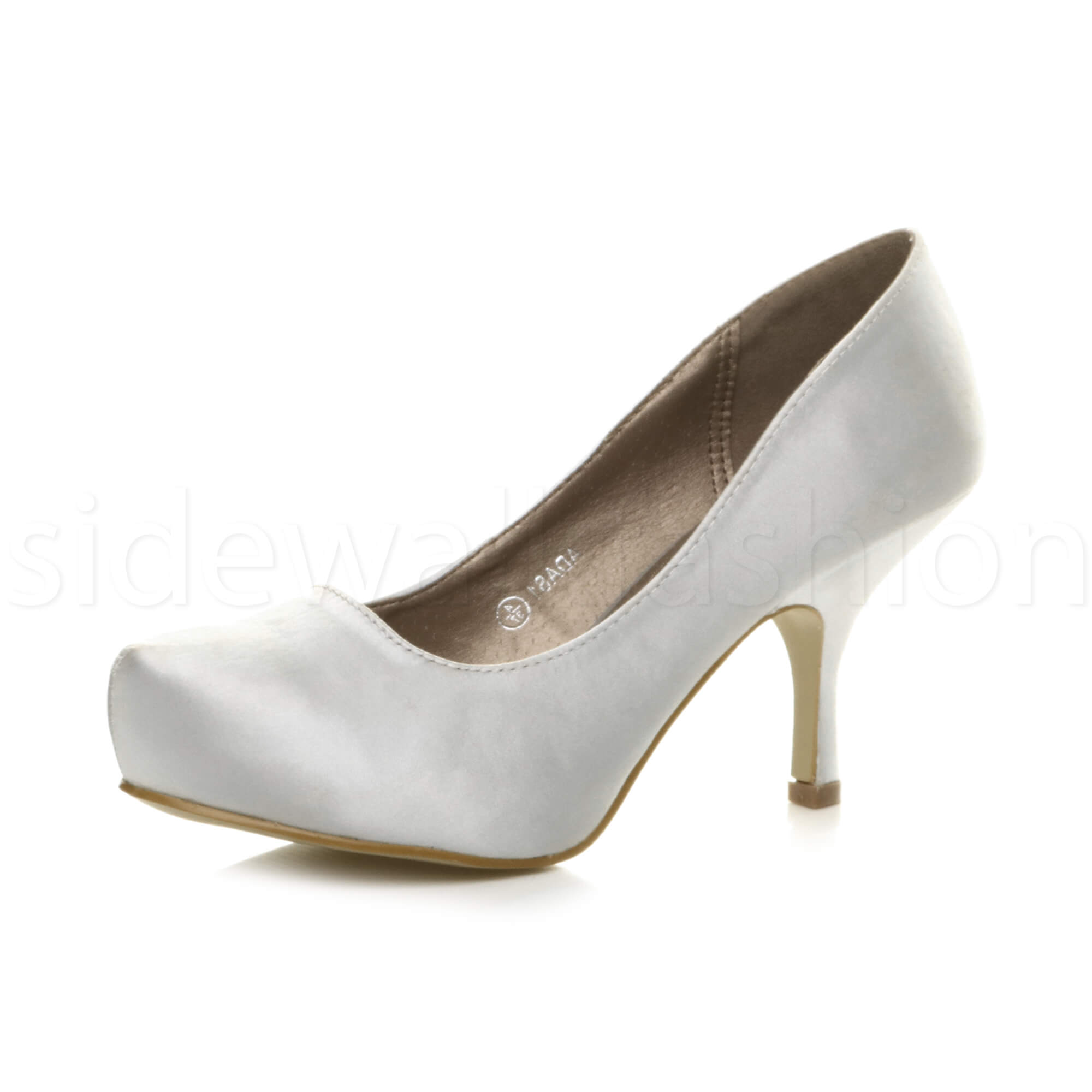Womens-ladies-low-mid-heel-concealed-platform-work-party-court-shoes-pumps-size thumbnail 142