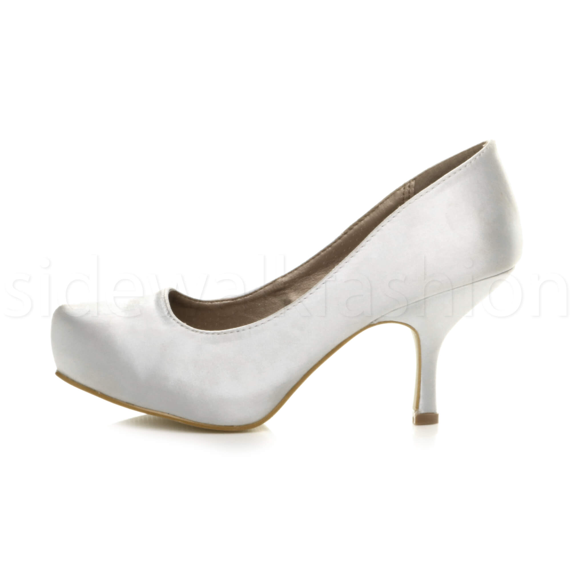 Womens-ladies-low-mid-heel-concealed-platform-work-party-court-shoes-pumps-size thumbnail 143