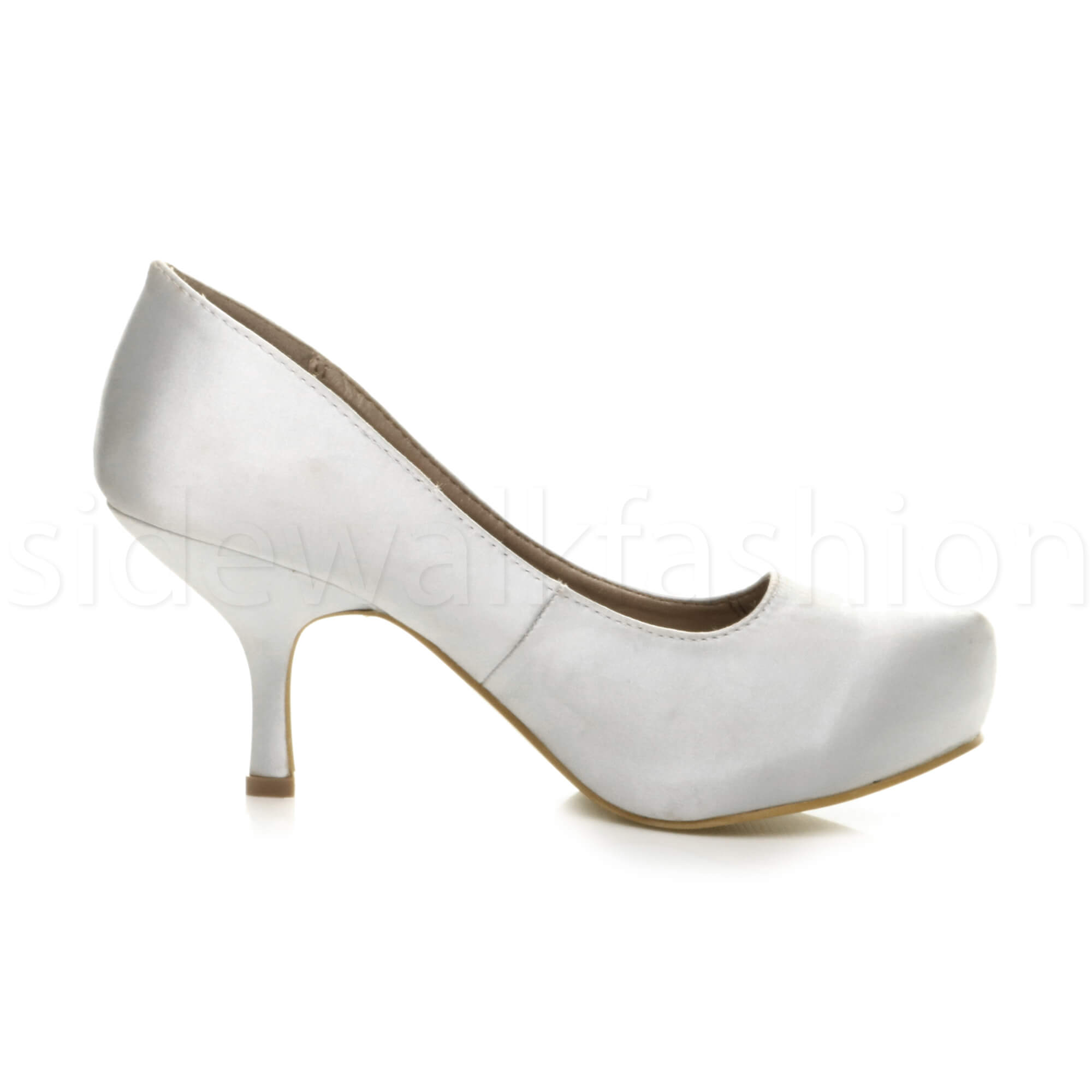 Womens-ladies-low-mid-heel-concealed-platform-work-party-court-shoes-pumps-size thumbnail 144