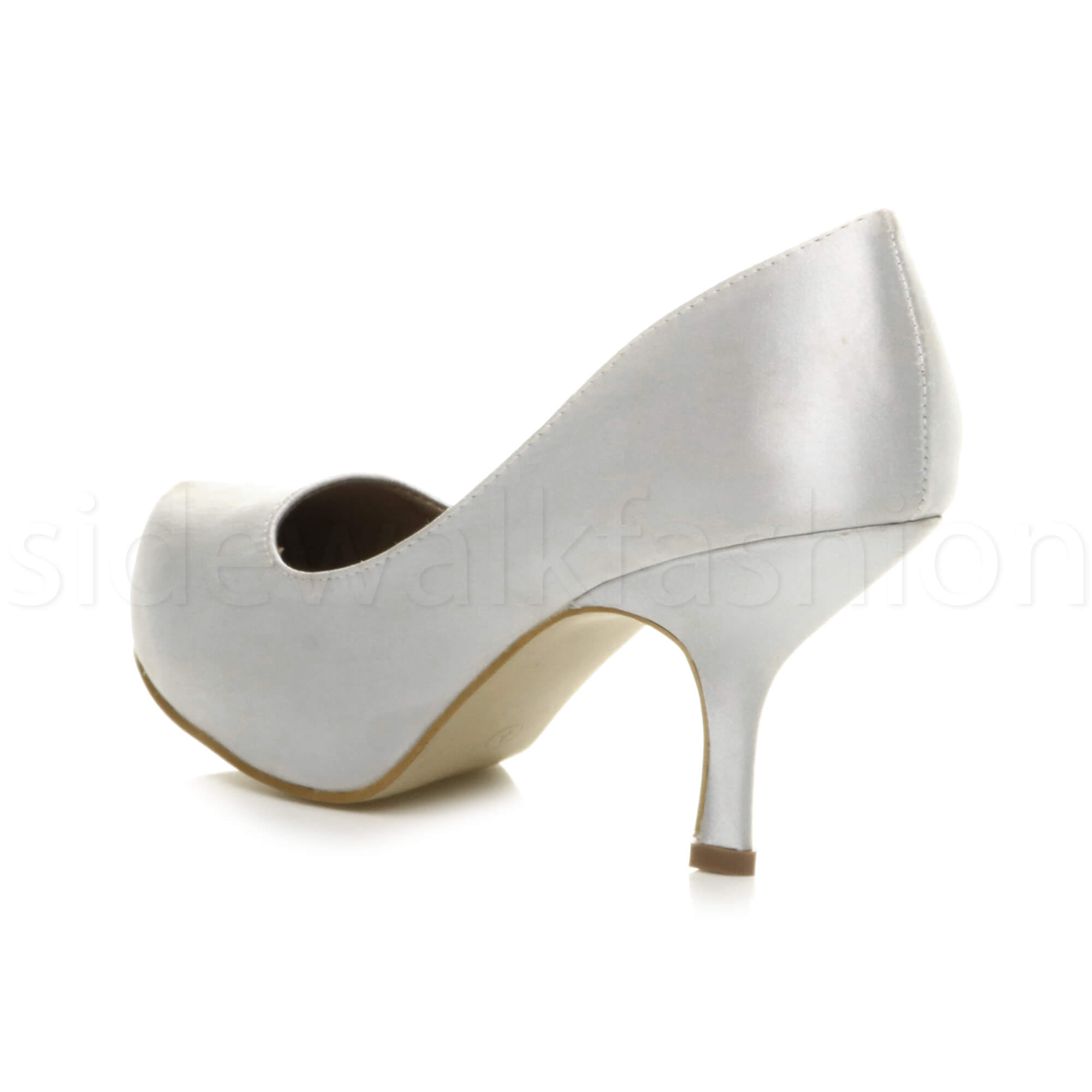 Womens-ladies-low-mid-heel-concealed-platform-work-party-court-shoes-pumps-size thumbnail 145