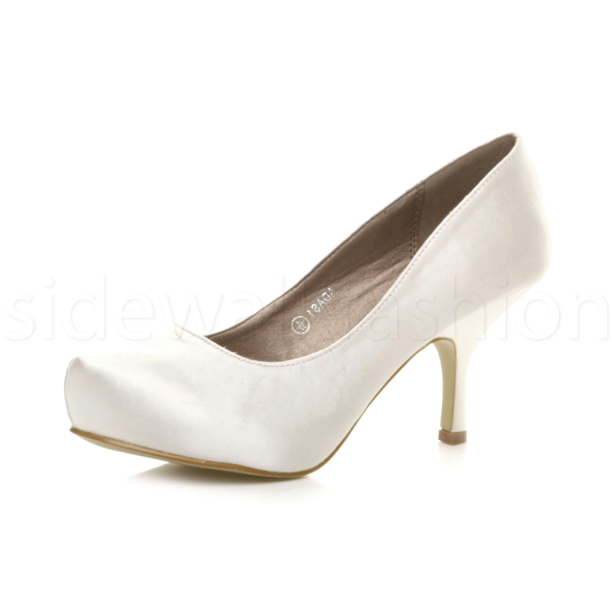 Womens-ladies-low-mid-heel-concealed-platform-work-party-court-shoes-pumps-size thumbnail 159