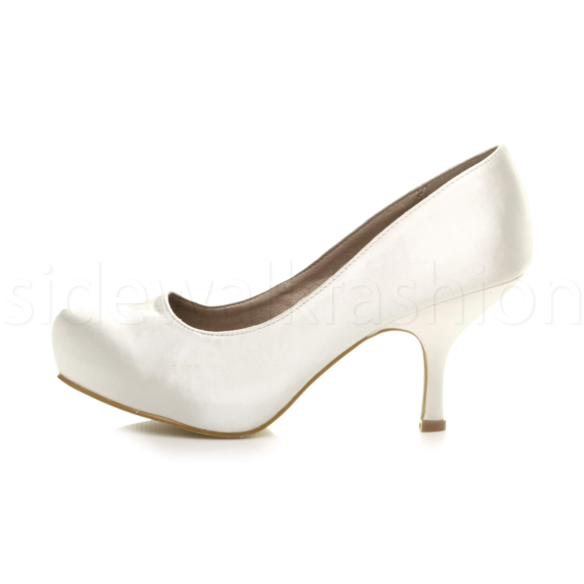 Womens-ladies-low-mid-heel-concealed-platform-work-party-court-shoes-pumps-size thumbnail 160