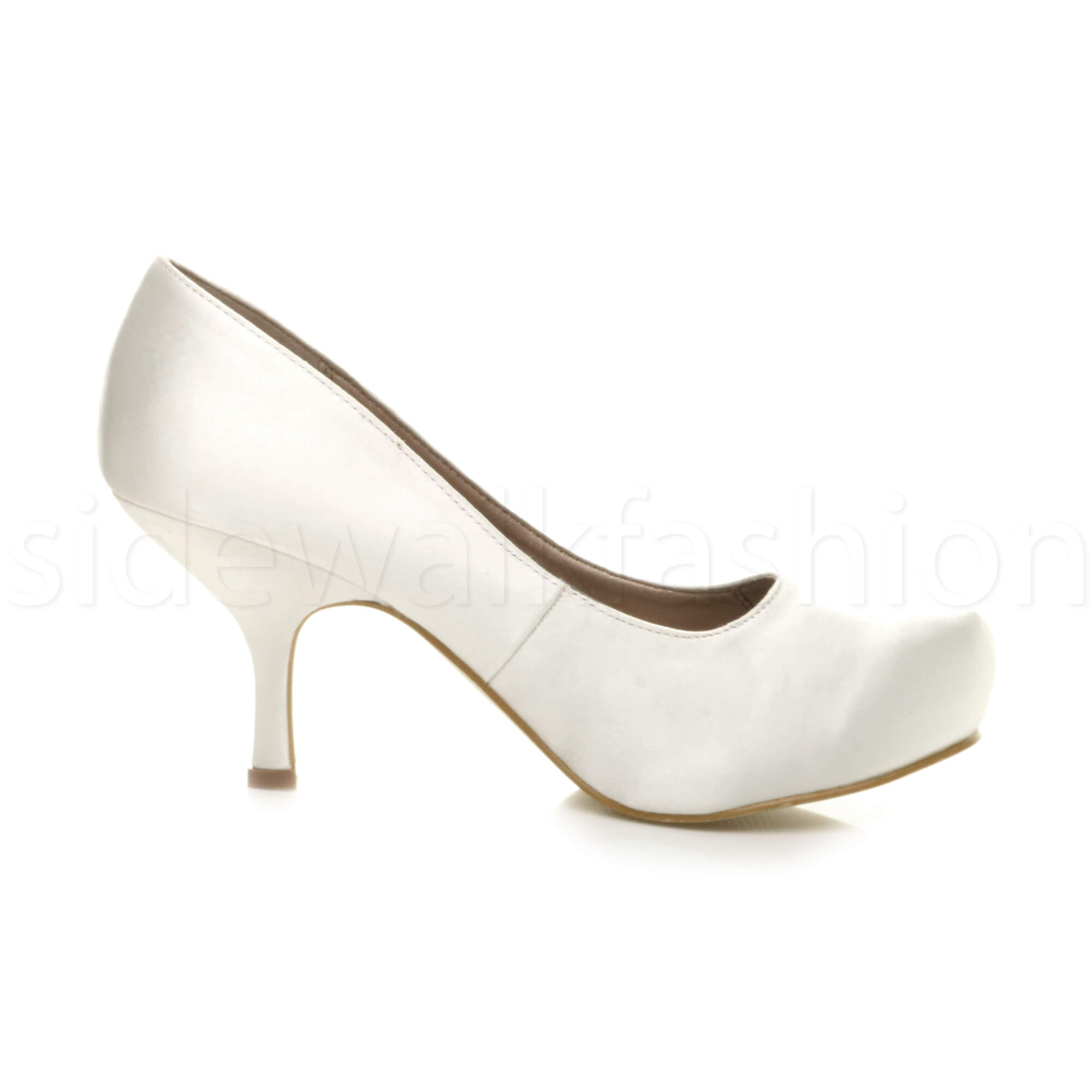 Womens-ladies-low-mid-heel-concealed-platform-work-party-court-shoes-pumps-size thumbnail 161