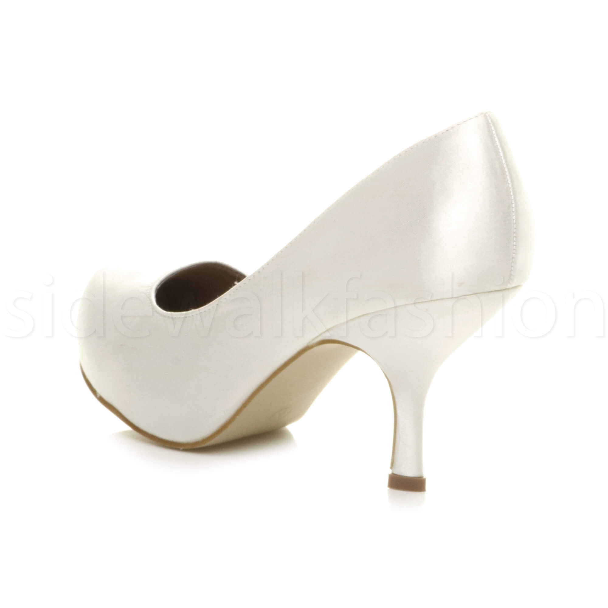 Womens-ladies-low-mid-heel-concealed-platform-work-party-court-shoes-pumps-size thumbnail 162
