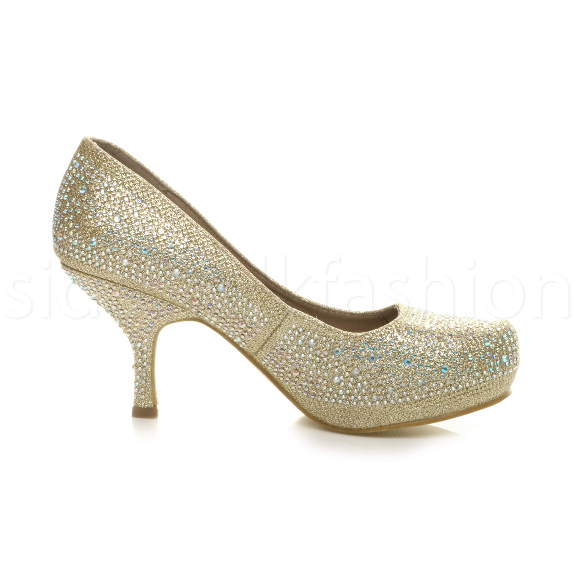 Womens-ladies-low-mid-heel-concealed-platform-work-party-court-shoes-pumps-size thumbnail 50