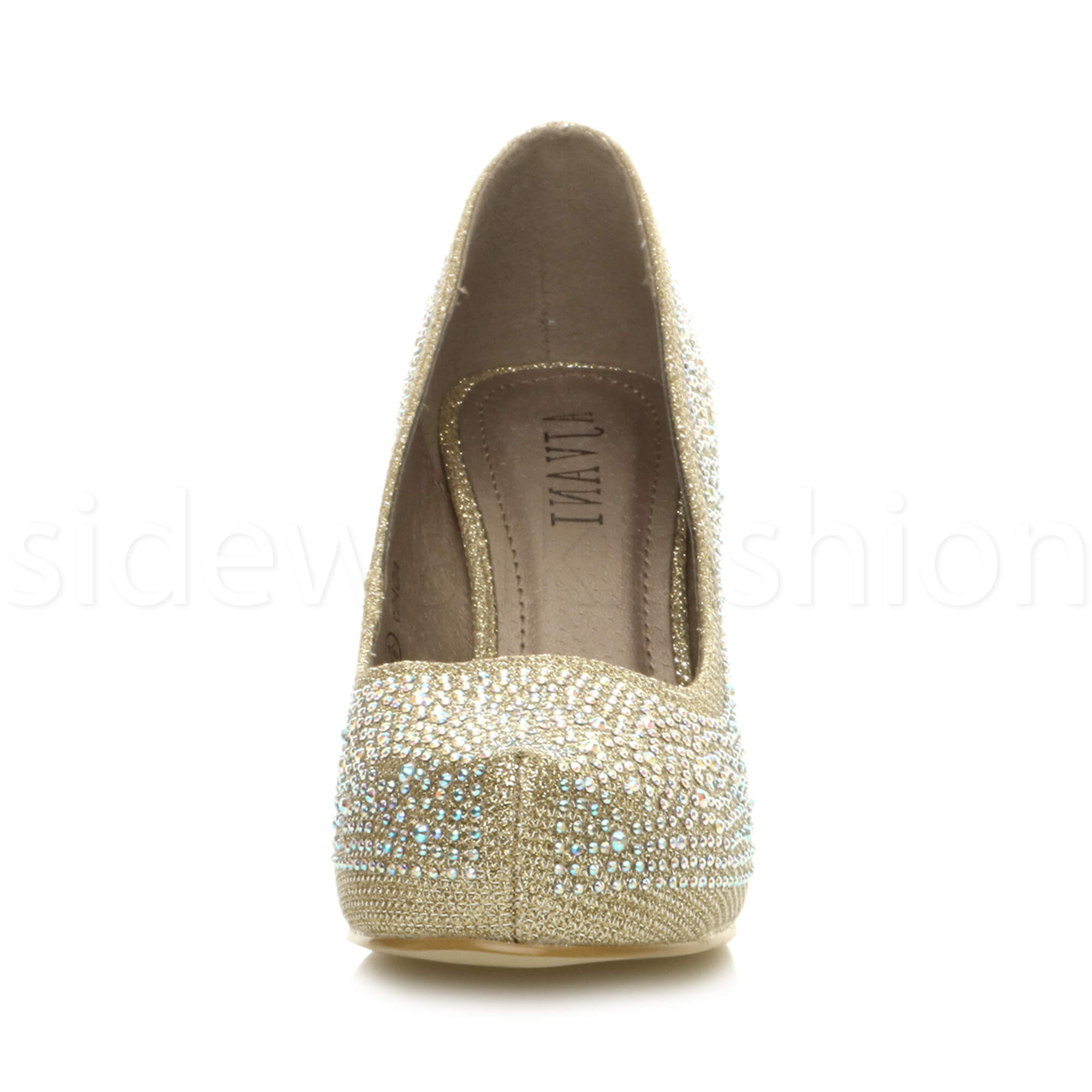 Womens-ladies-low-mid-heel-concealed-platform-work-party-court-shoes-pumps-size thumbnail 53