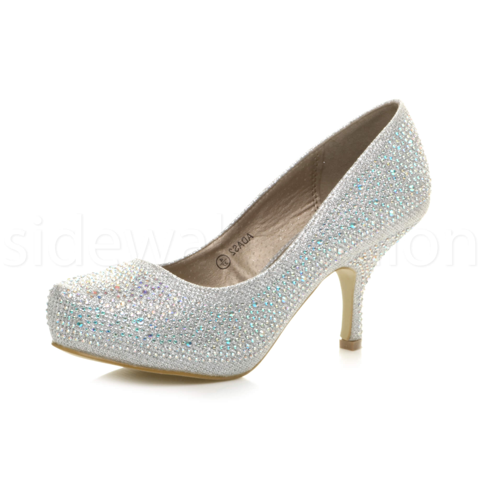 Womens-ladies-low-mid-heel-concealed-platform-work-party-court-shoes-pumps-size thumbnail 108
