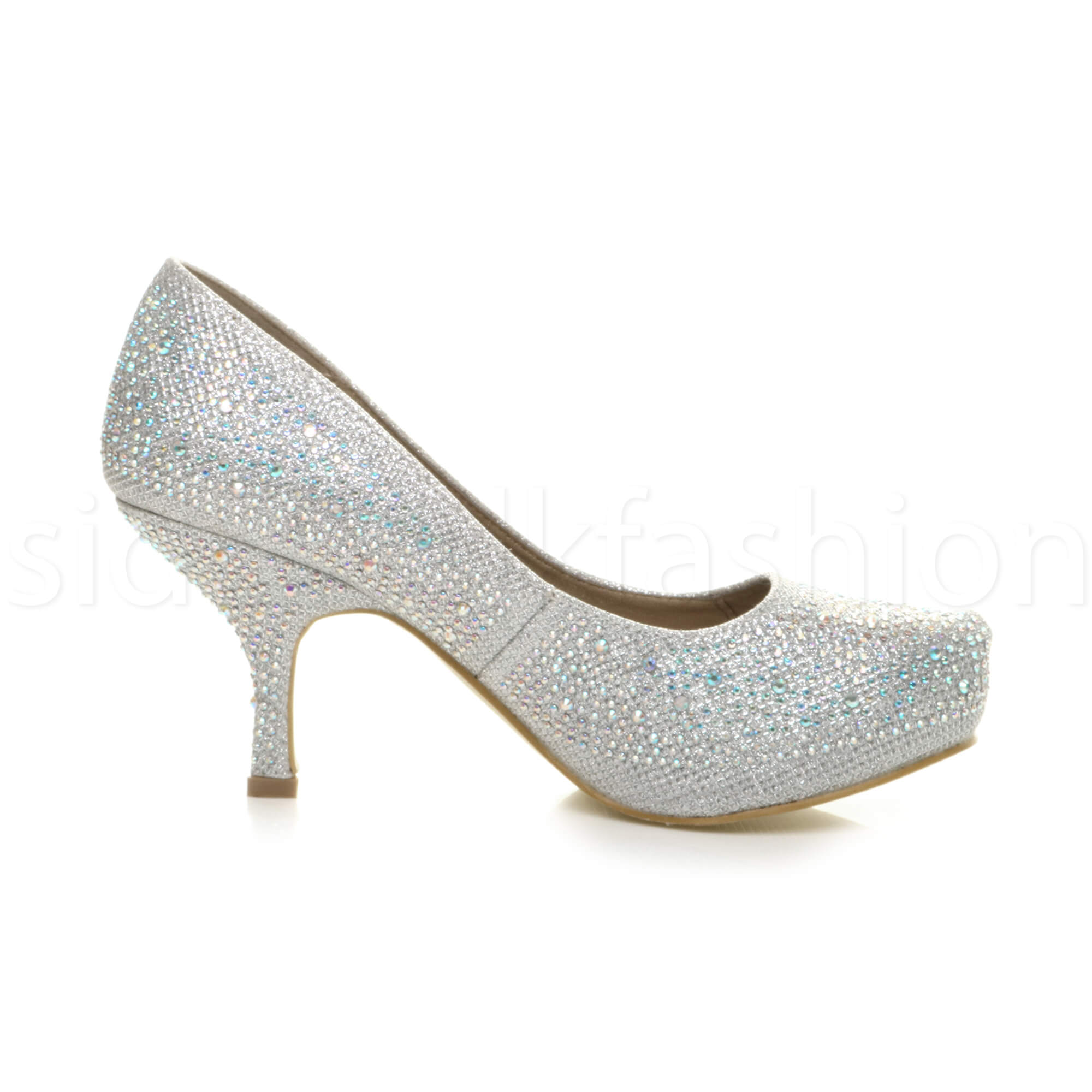 Womens-ladies-low-mid-heel-concealed-platform-work-party-court-shoes-pumps-size thumbnail 110