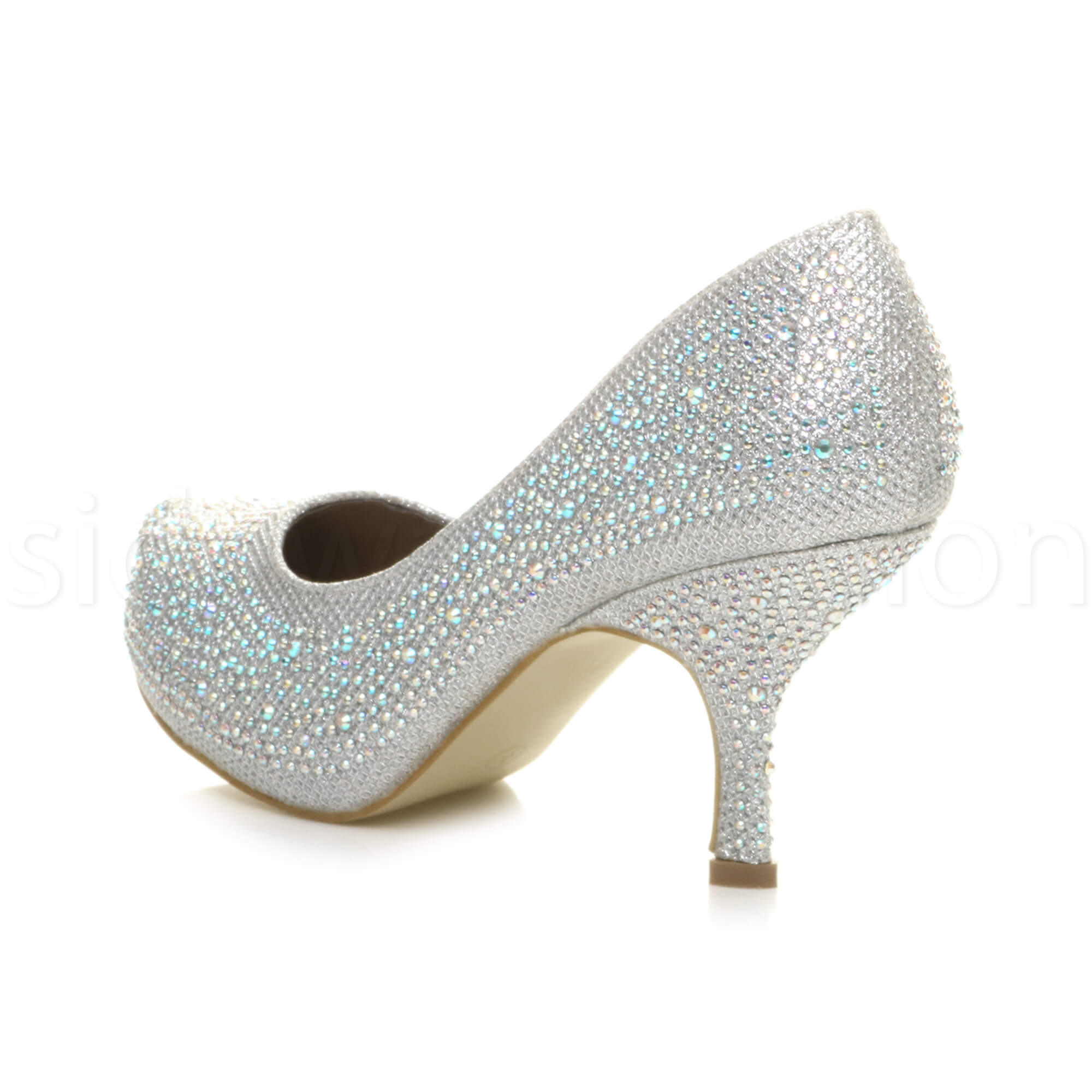 Womens-ladies-low-mid-heel-concealed-platform-work-party-court-shoes-pumps-size thumbnail 111