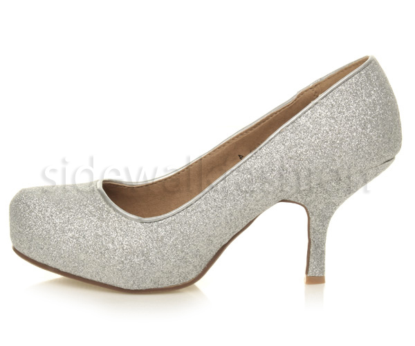 Womens-ladies-low-mid-heel-concealed-platform-work-party-court-shoes-pumps-size thumbnail 115