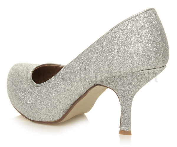 Womens-ladies-low-mid-heel-concealed-platform-work-party-court-shoes-pumps-size thumbnail 117