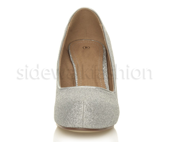 Womens-ladies-low-mid-heel-concealed-platform-work-party-court-shoes-pumps-size thumbnail 118