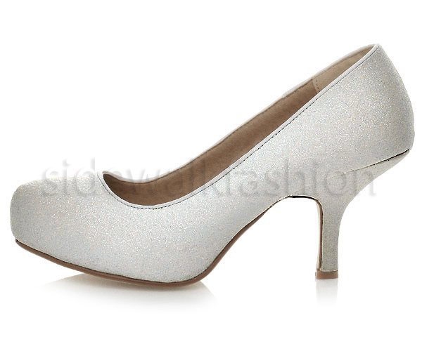 Womens-ladies-low-mid-heel-concealed-platform-work-party-court-shoes-pumps-size thumbnail 149