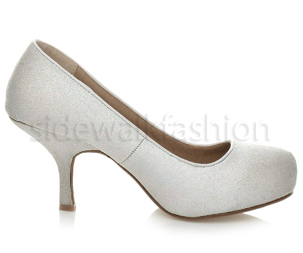 Womens-ladies-low-mid-heel-concealed-platform-work-party-court-shoes-pumps-size thumbnail 150