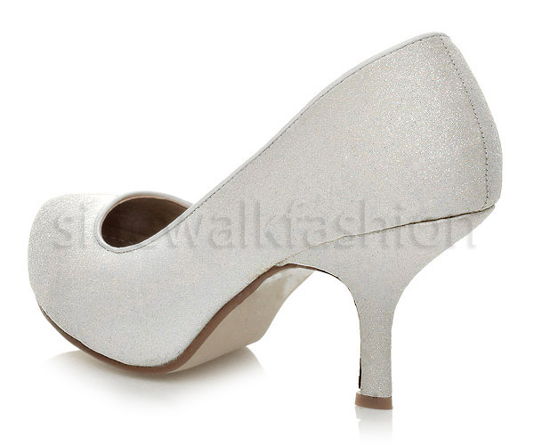 Womens-ladies-low-mid-heel-concealed-platform-work-party-court-shoes-pumps-size thumbnail 151