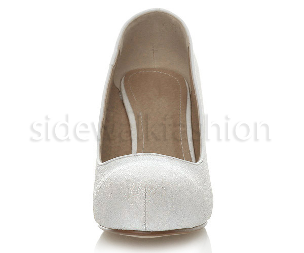 Womens-ladies-low-mid-heel-concealed-platform-work-party-court-shoes-pumps-size thumbnail 152