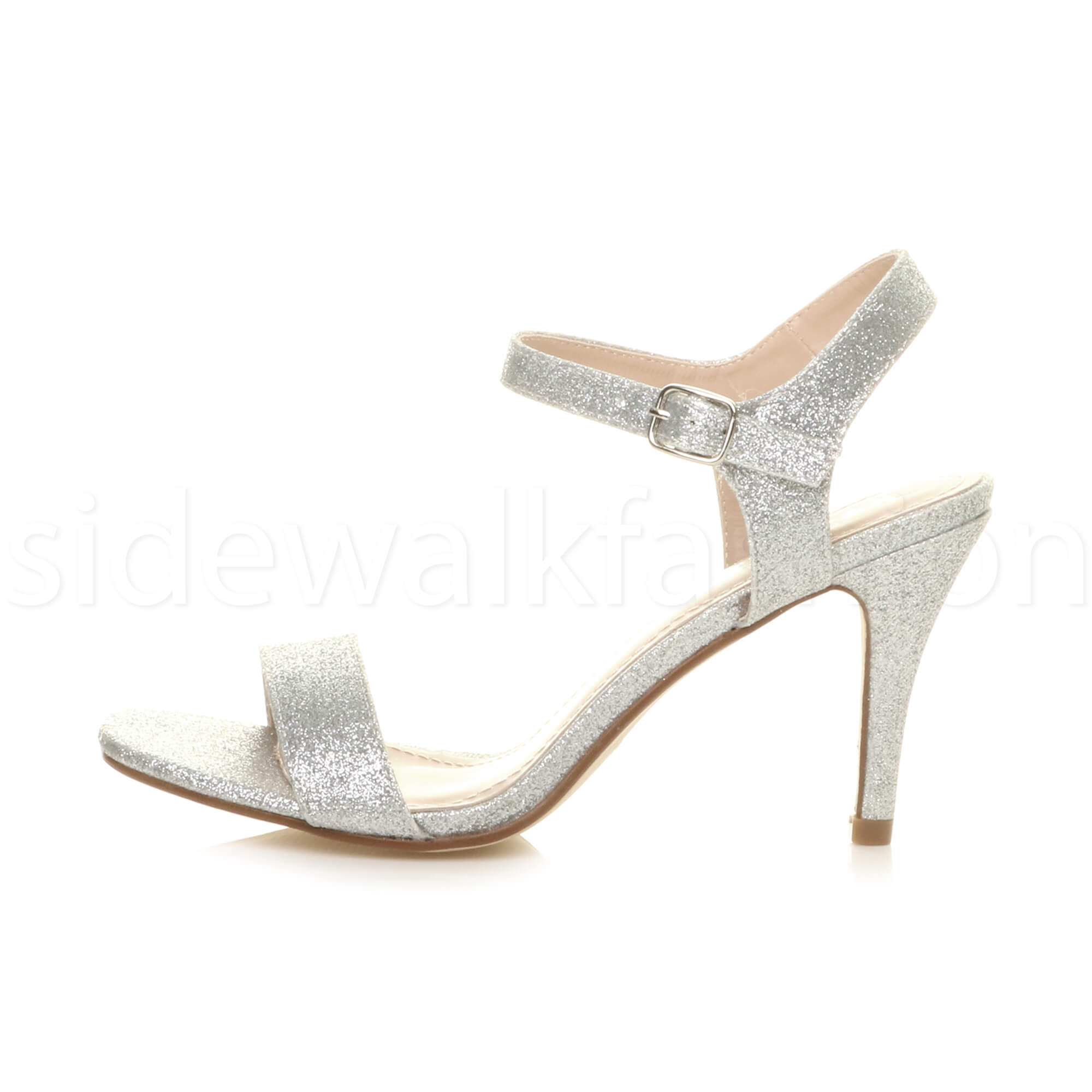 Womens High Heel Ladies Strappy Evening Prom Simple Party