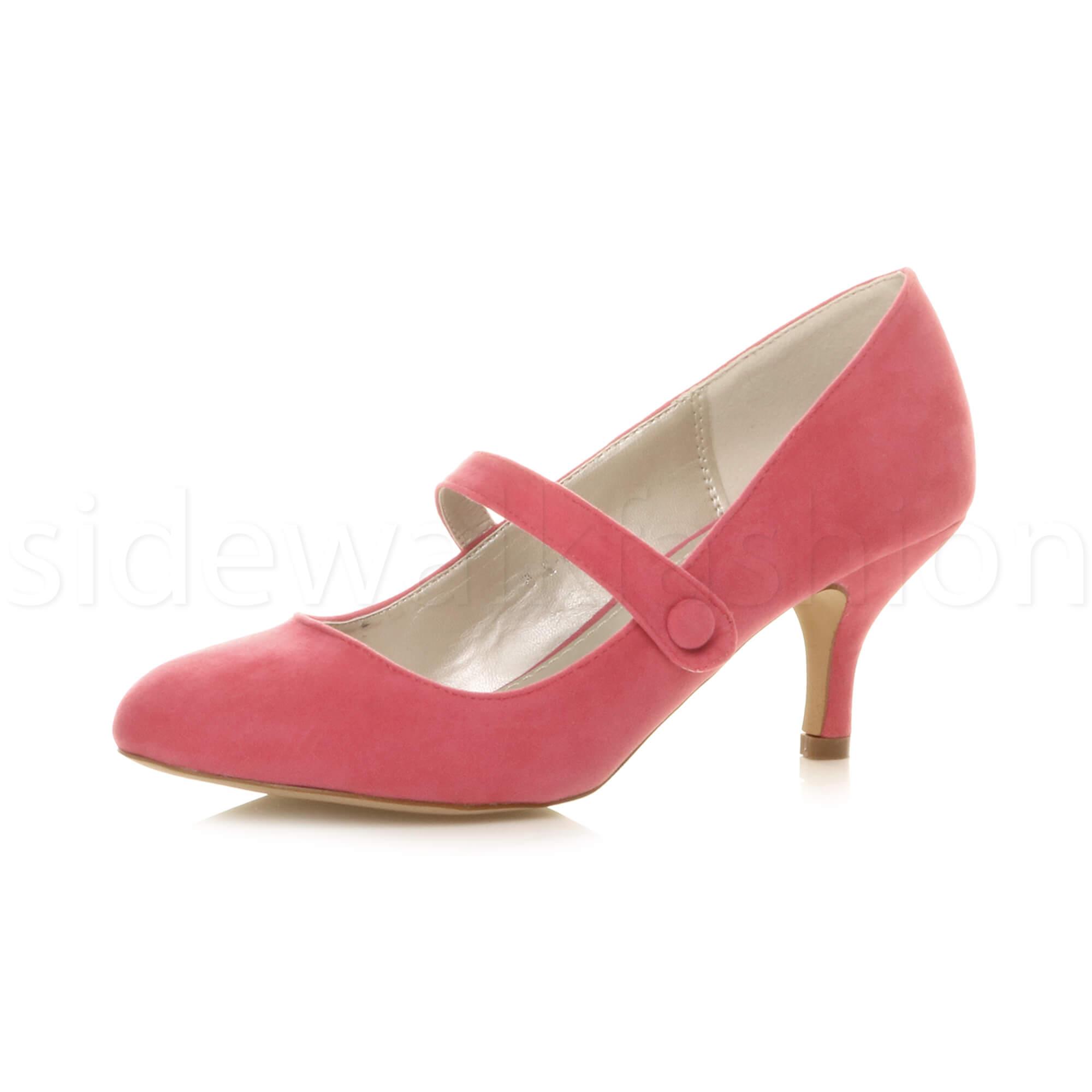Black Suede Medium Heel Court Shoes