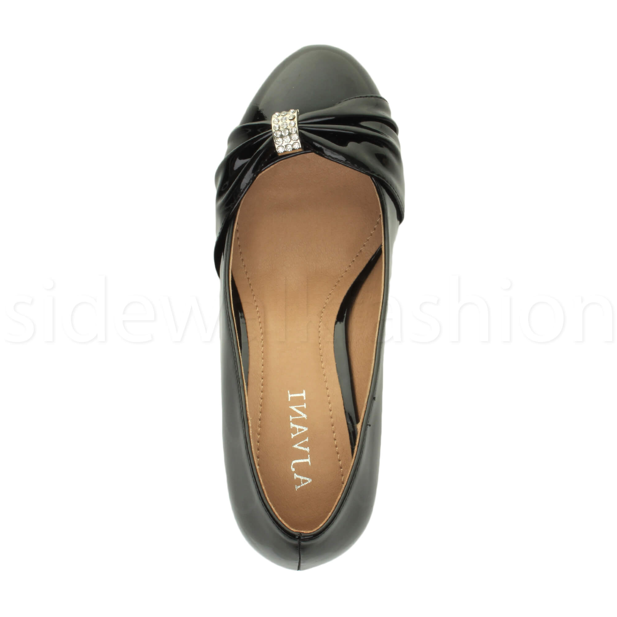 Womens-ladies-low-mid-heel-diamante-party-smart-evening-court-shoes-size thumbnail 16