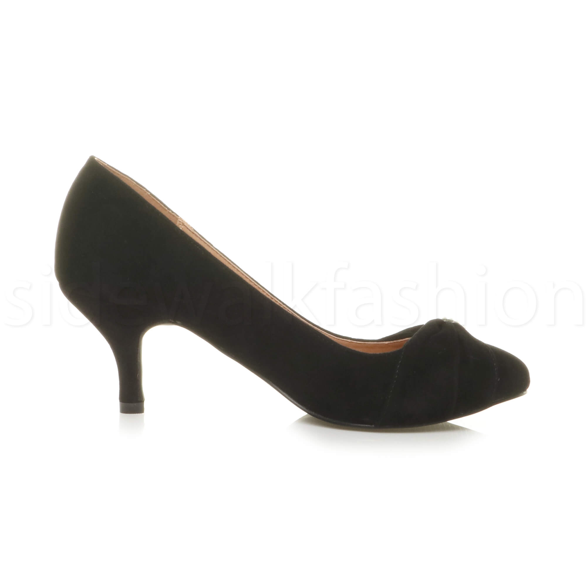 Womens-ladies-low-mid-heel-diamante-party-smart-evening-court-shoes-size thumbnail 20