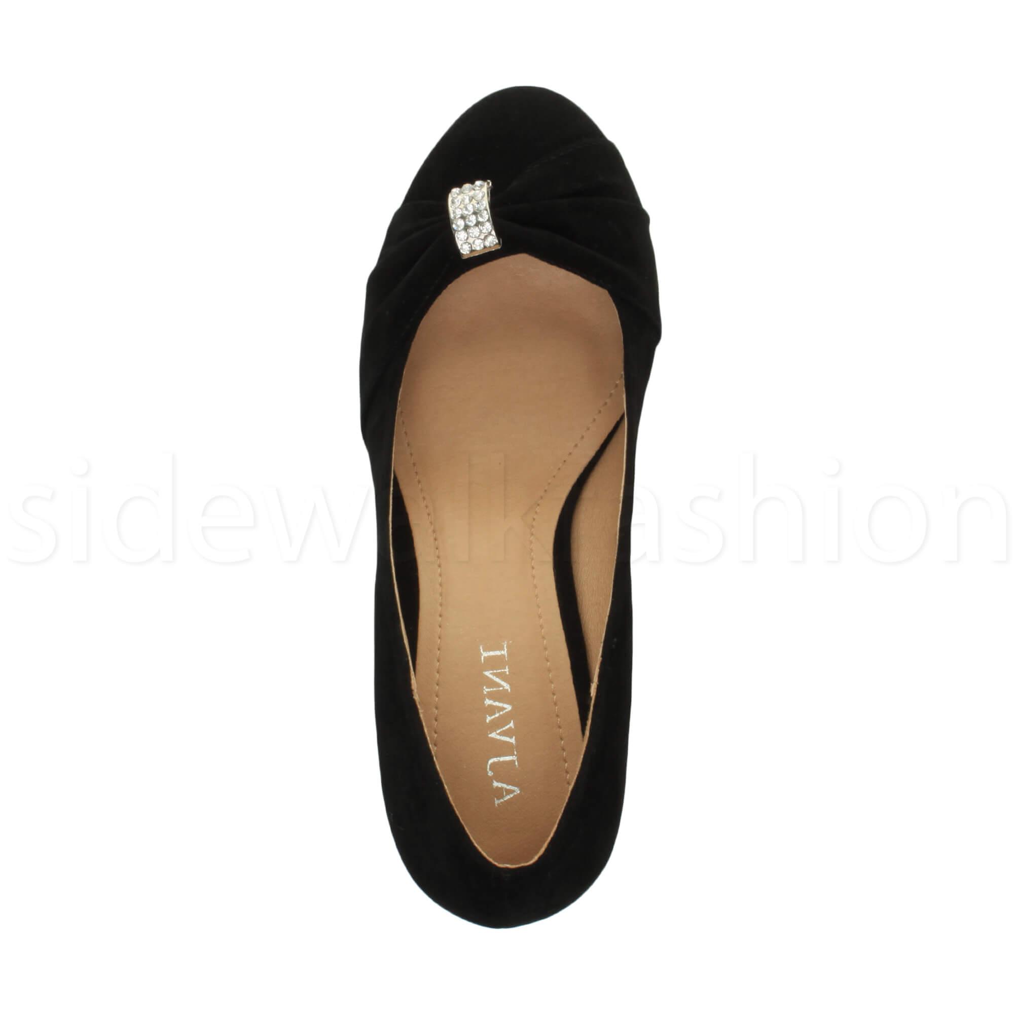 Womens-ladies-low-mid-heel-diamante-party-smart-evening-court-shoes-size thumbnail 24