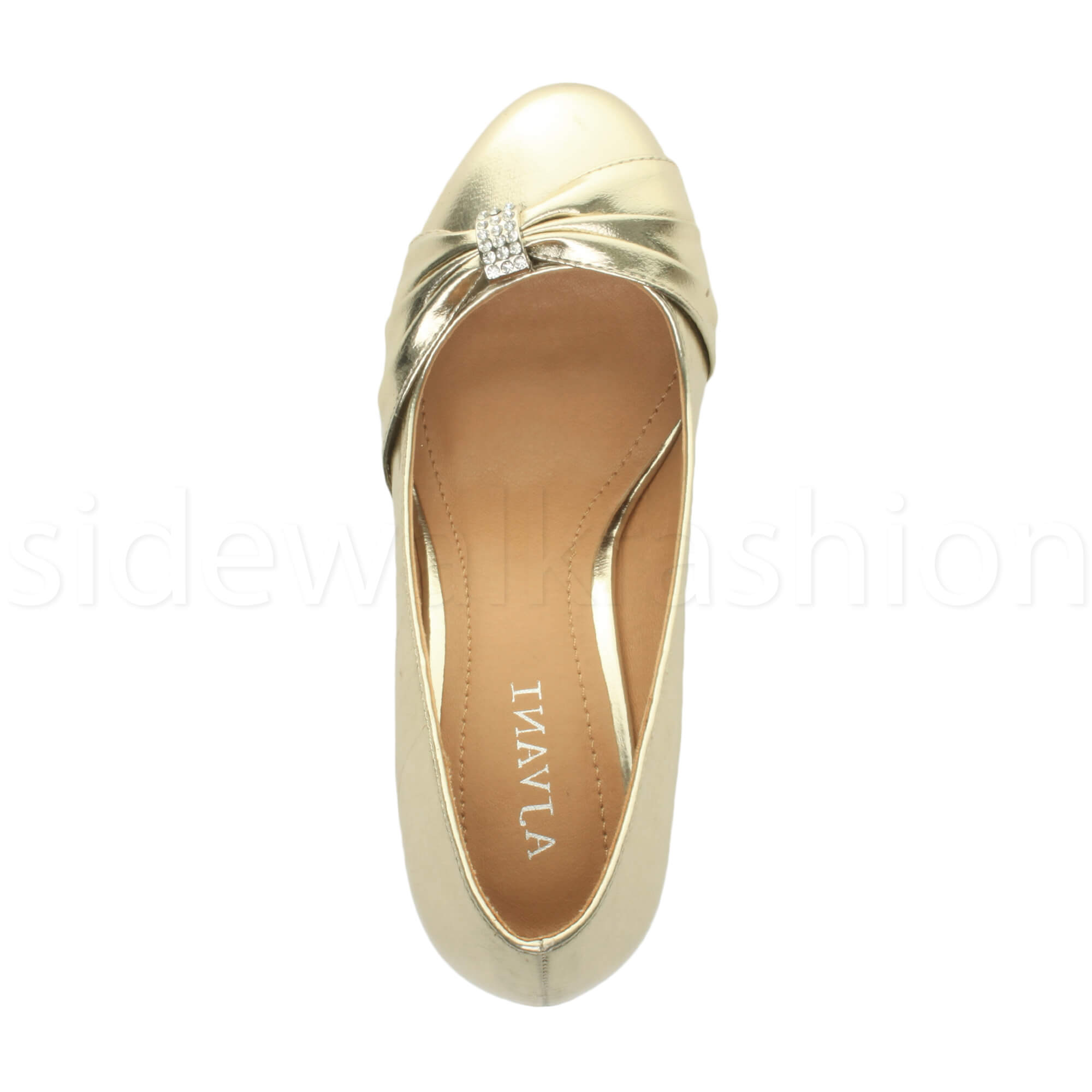 Womens-ladies-low-mid-heel-diamante-party-smart-evening-court-shoes-size thumbnail 32