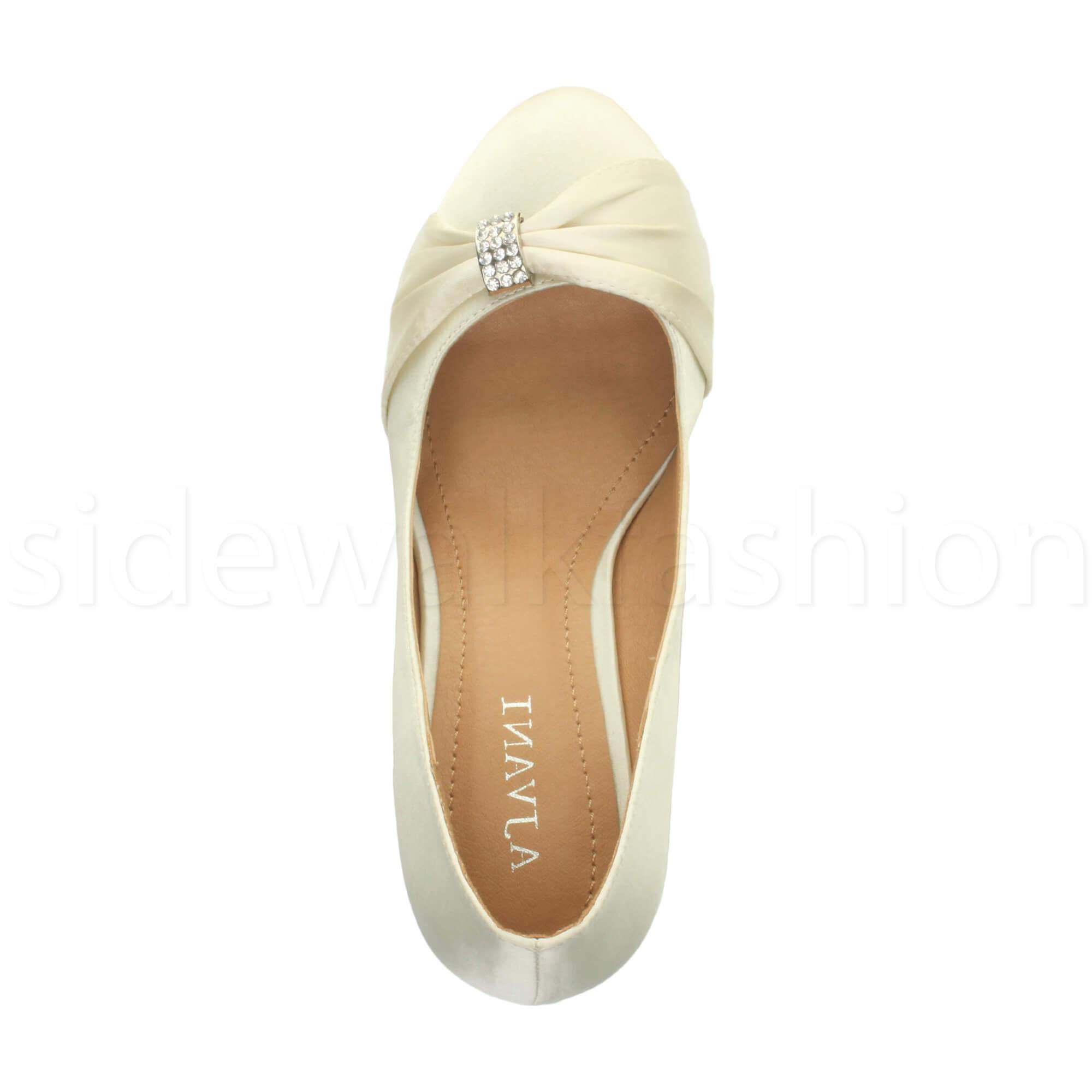Womens-ladies-low-mid-heel-diamante-party-smart-evening-court-shoes-size thumbnail 40
