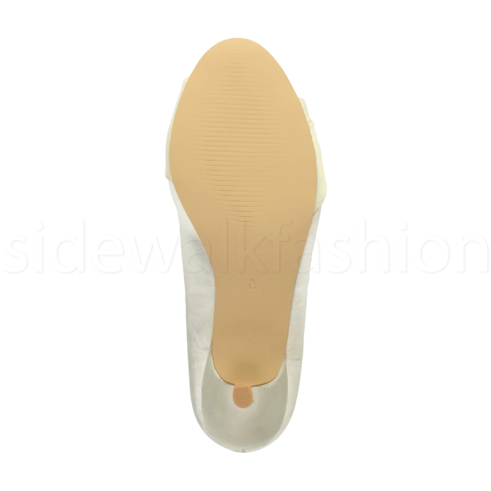 Womens-ladies-low-mid-heel-diamante-party-smart-evening-court-shoes-size thumbnail 41