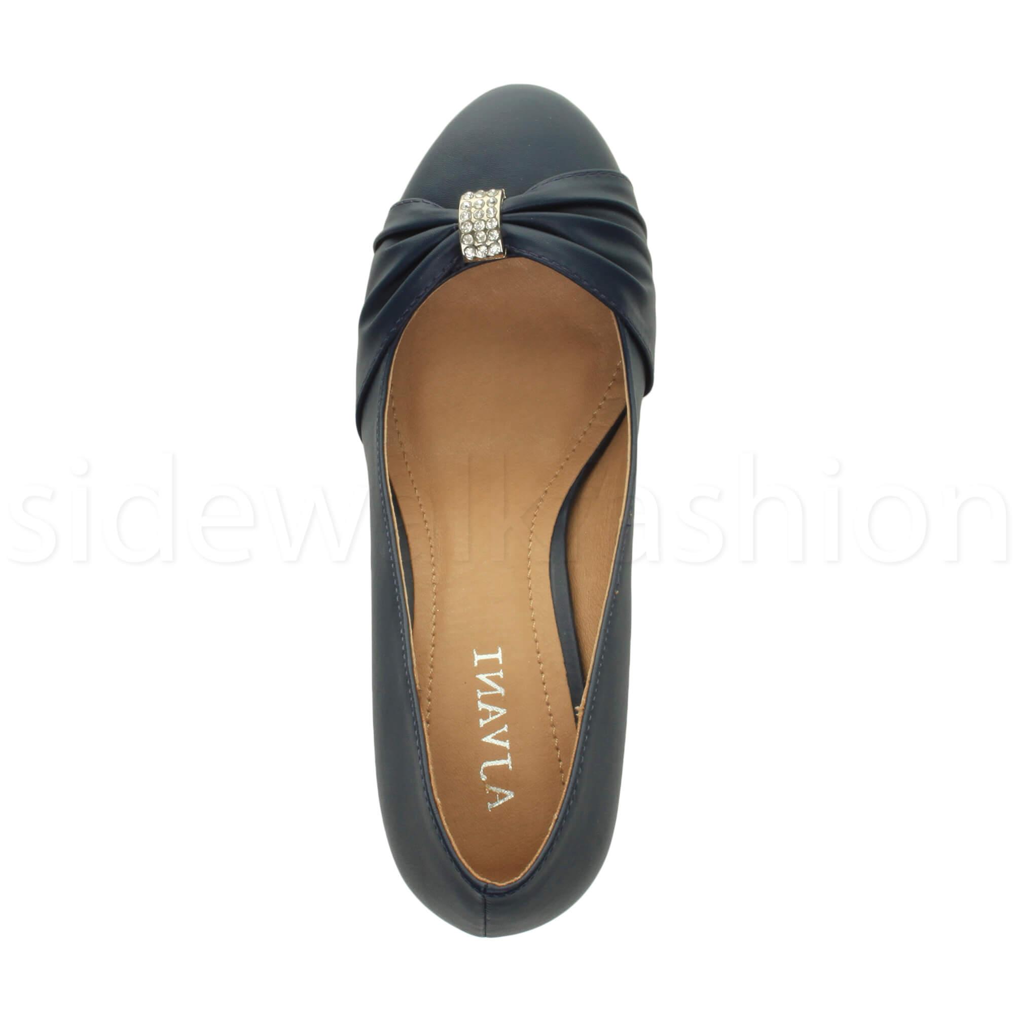 Womens-ladies-low-mid-heel-diamante-party-smart-evening-court-shoes-size thumbnail 48