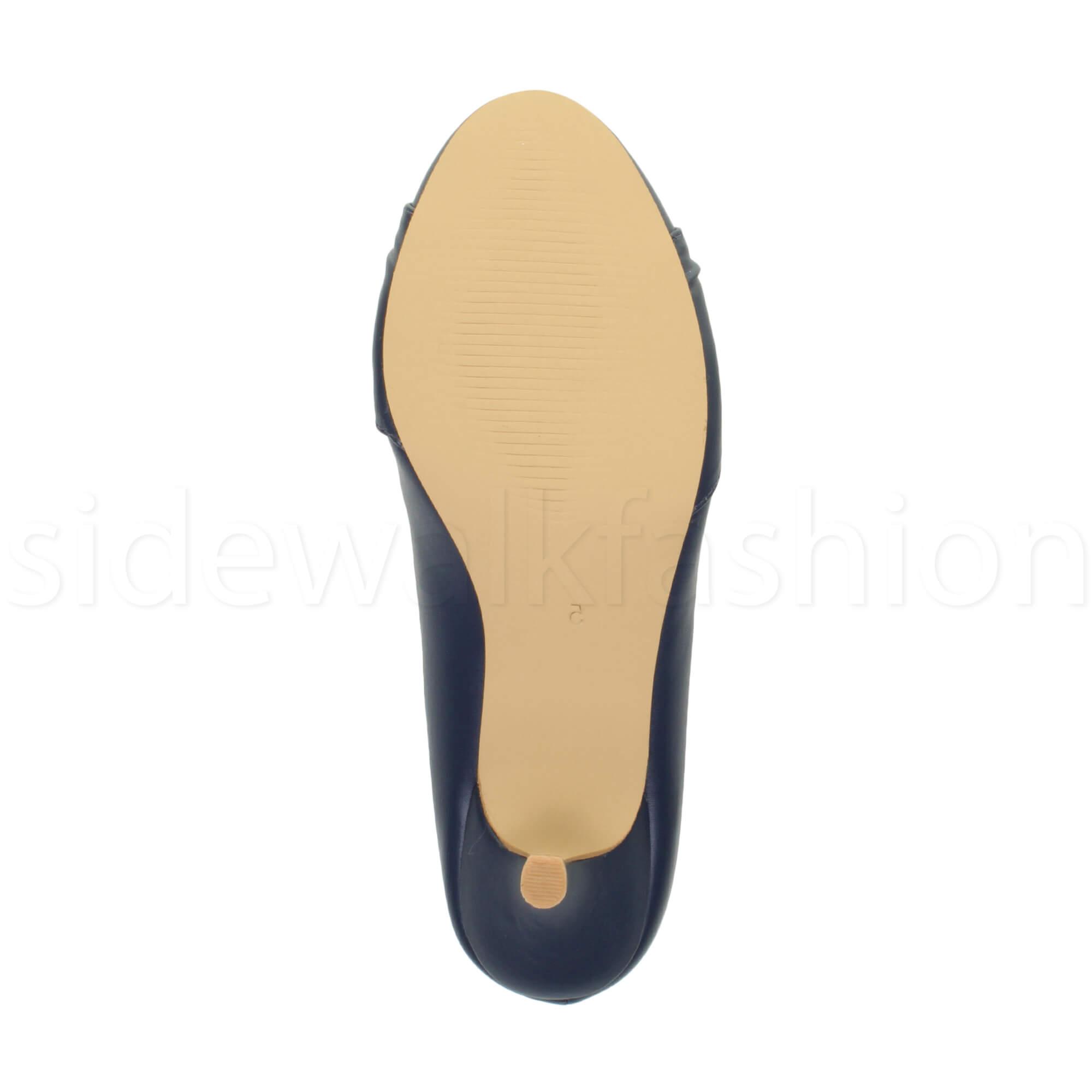 Womens-ladies-low-mid-heel-diamante-party-smart-evening-court-shoes-size thumbnail 49