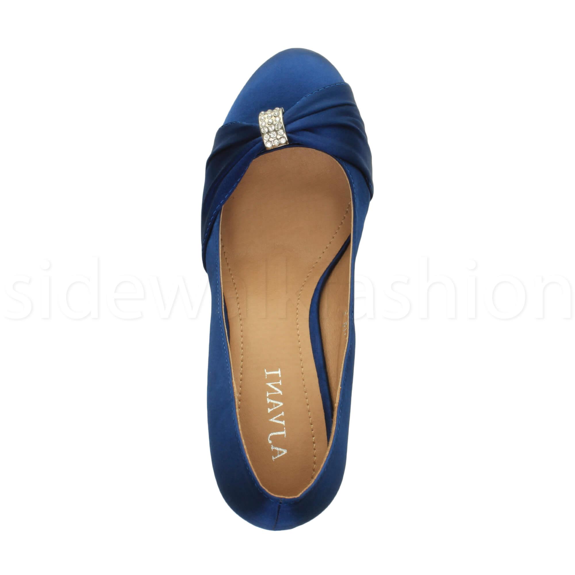 Womens-ladies-low-mid-heel-diamante-party-smart-evening-court-shoes-size thumbnail 56