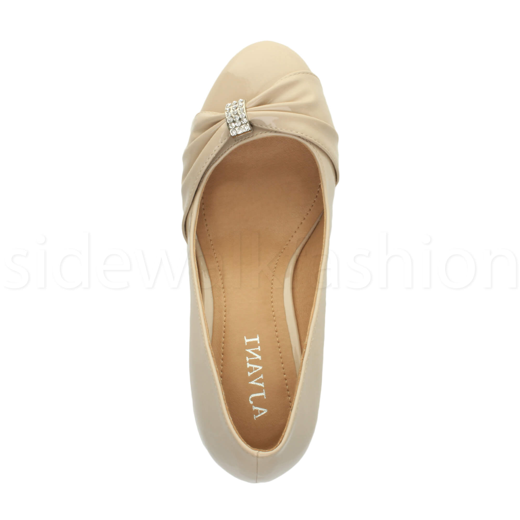 Womens-ladies-low-mid-heel-diamante-party-smart-evening-court-shoes-size thumbnail 72