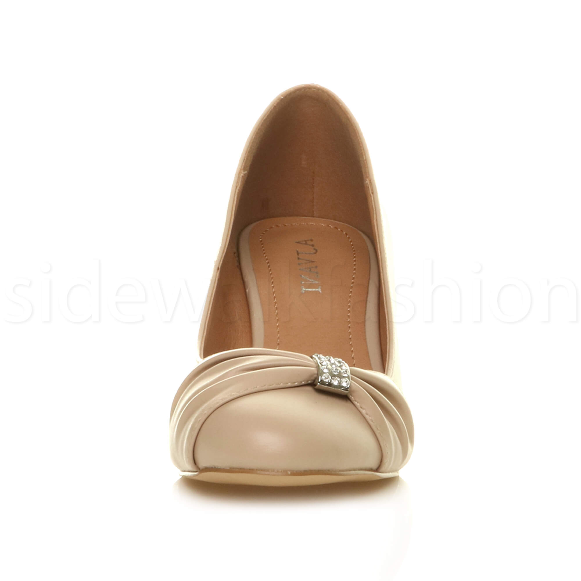 Womens-ladies-low-mid-heel-diamante-party-smart-evening-court-shoes-size thumbnail 63