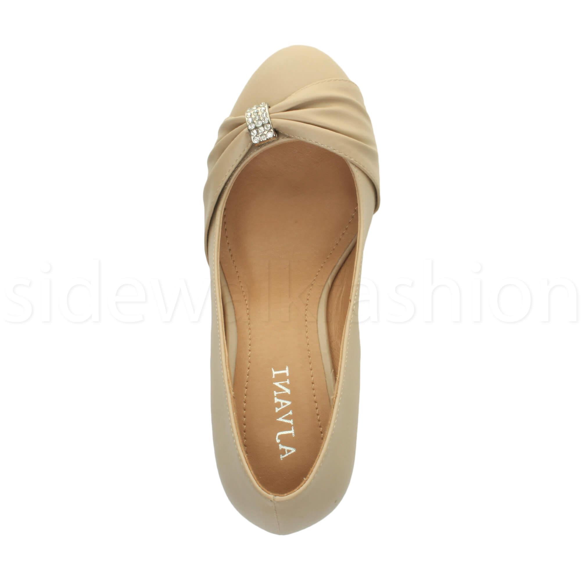Womens-ladies-low-mid-heel-diamante-party-smart-evening-court-shoes-size thumbnail 64