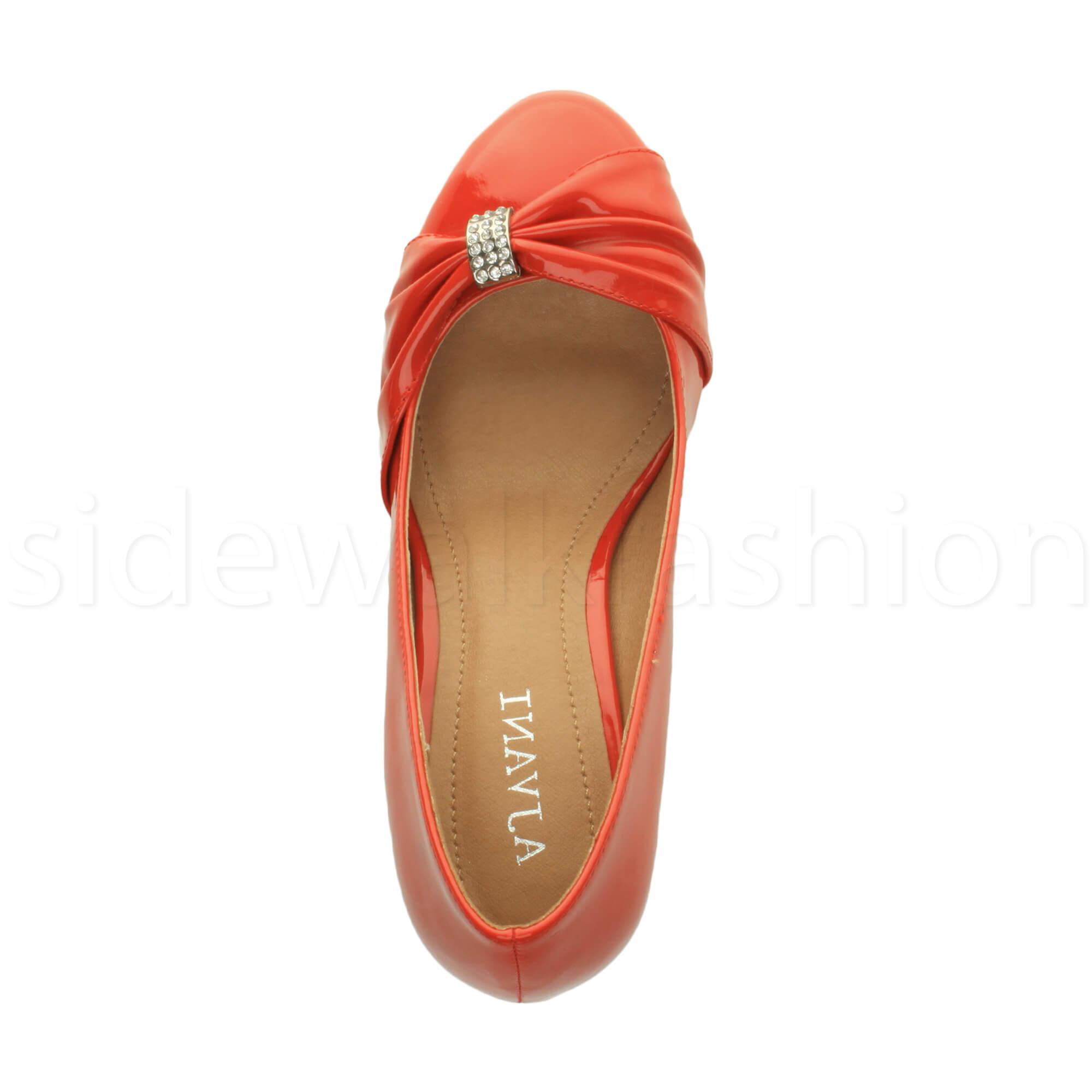 Womens-ladies-low-mid-heel-diamante-party-smart-evening-court-shoes-size thumbnail 80