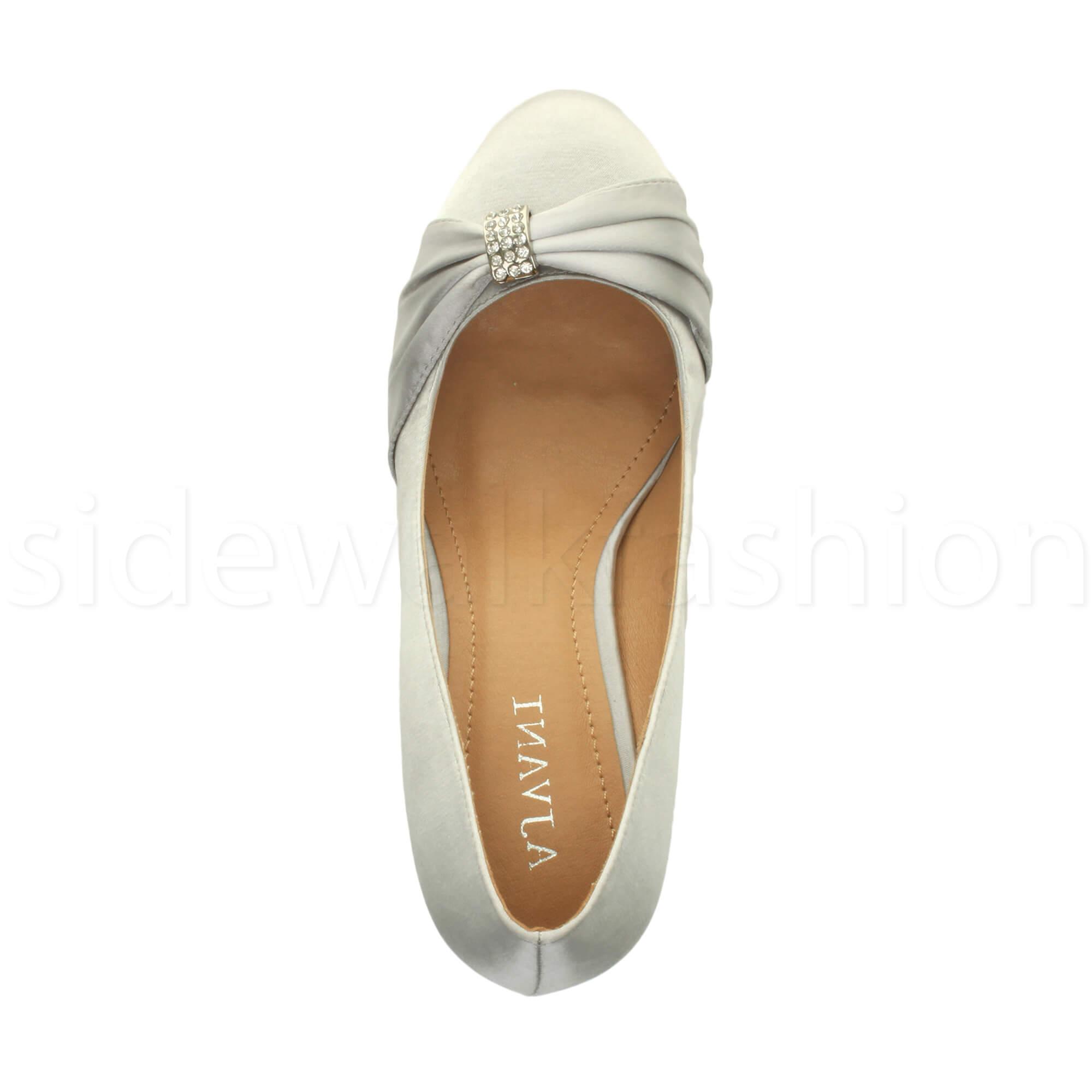 Womens-ladies-low-mid-heel-diamante-party-smart-evening-court-shoes-size thumbnail 96