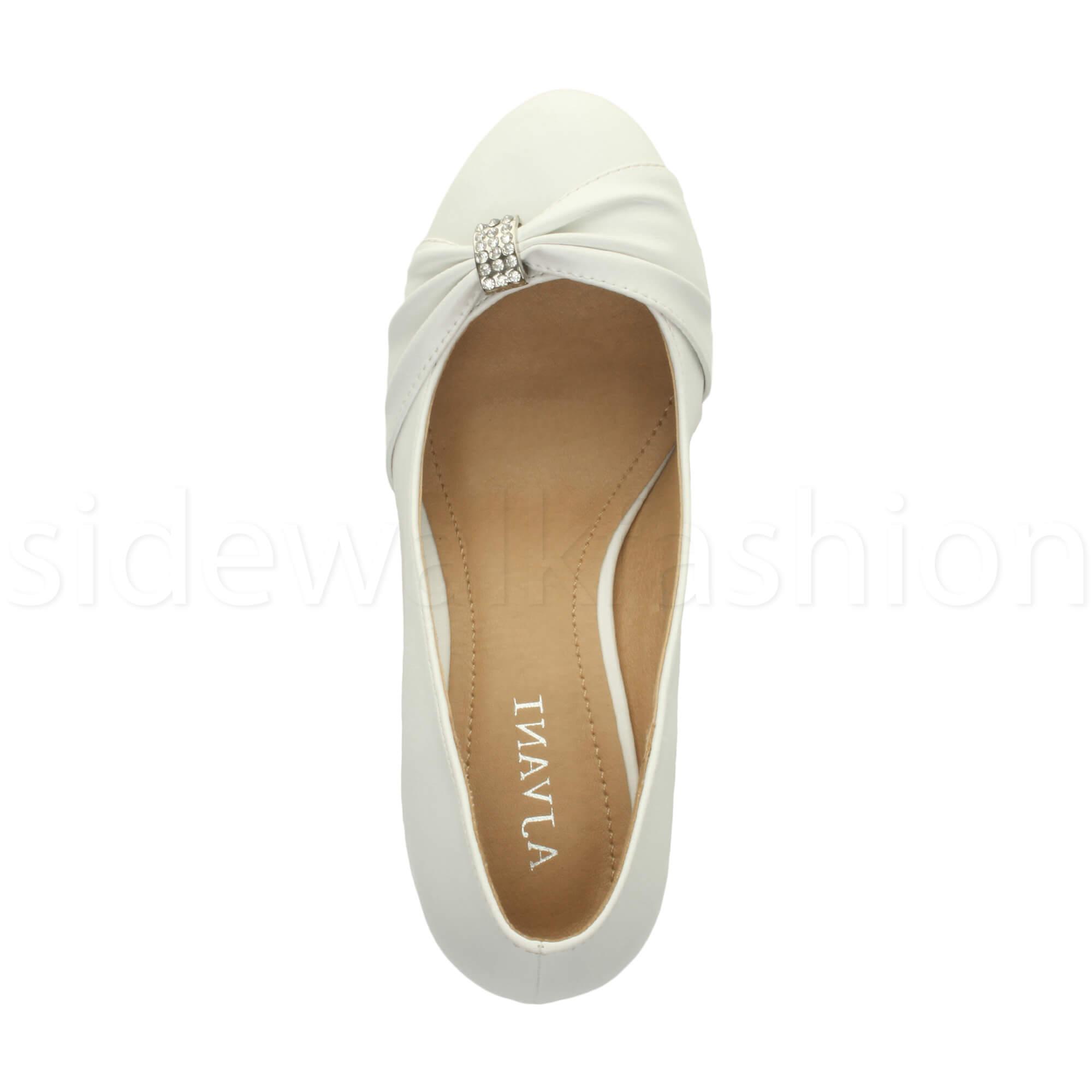 Womens-ladies-low-mid-heel-diamante-party-smart-evening-court-shoes-size thumbnail 104