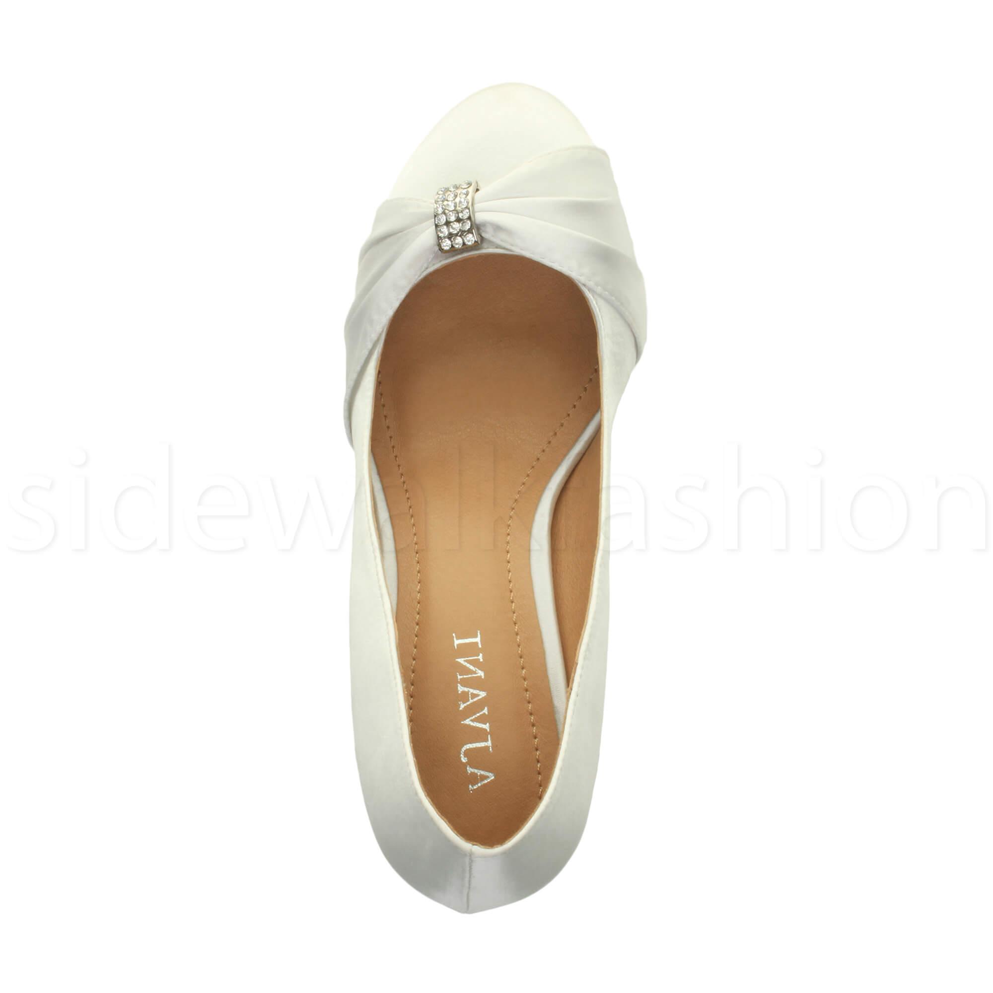 Womens-ladies-low-mid-heel-diamante-party-smart-evening-court-shoes-size thumbnail 112
