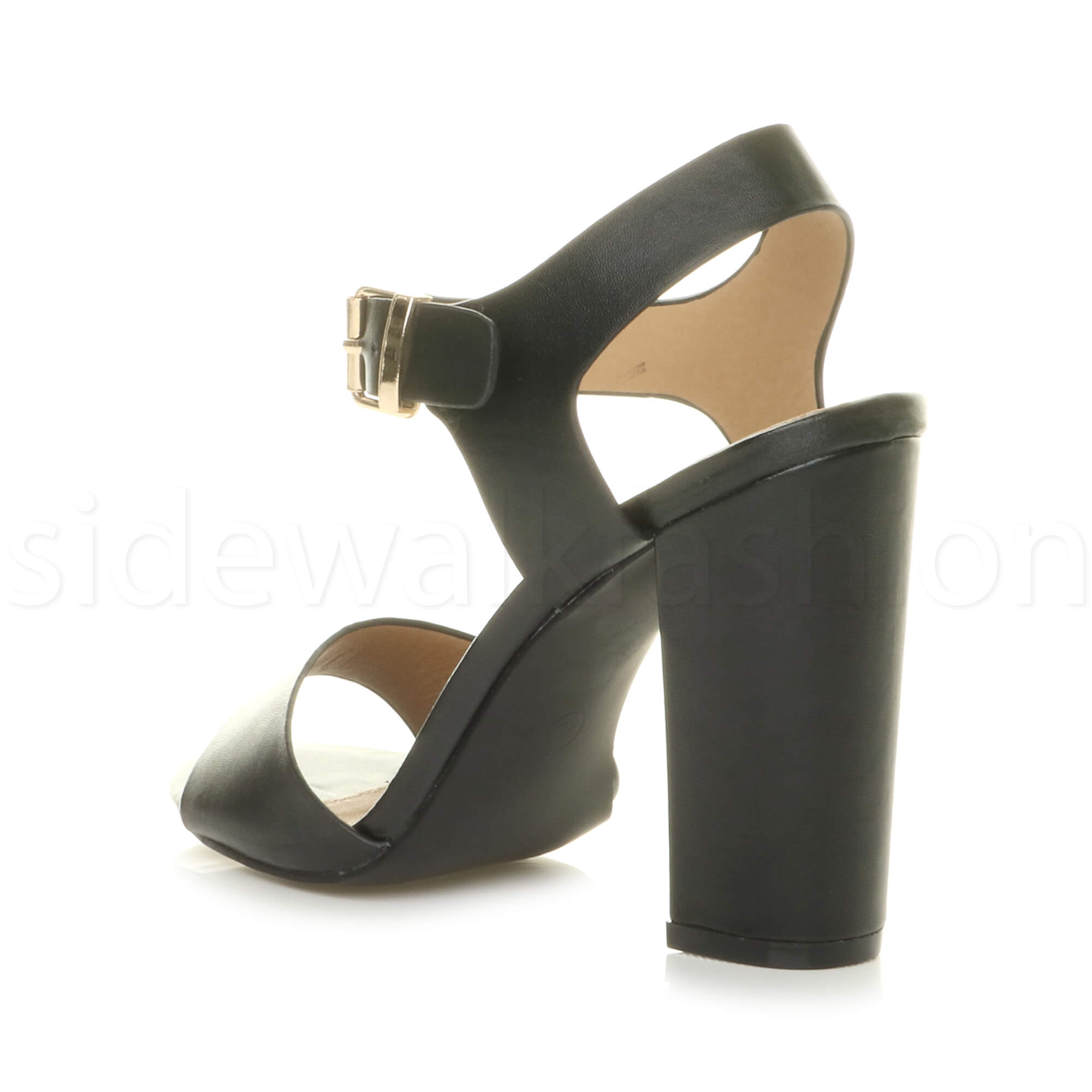Womens-ladies-chunky-high-heel-buckle-strappy-barely-there-sandals-shoes-size thumbnail 5