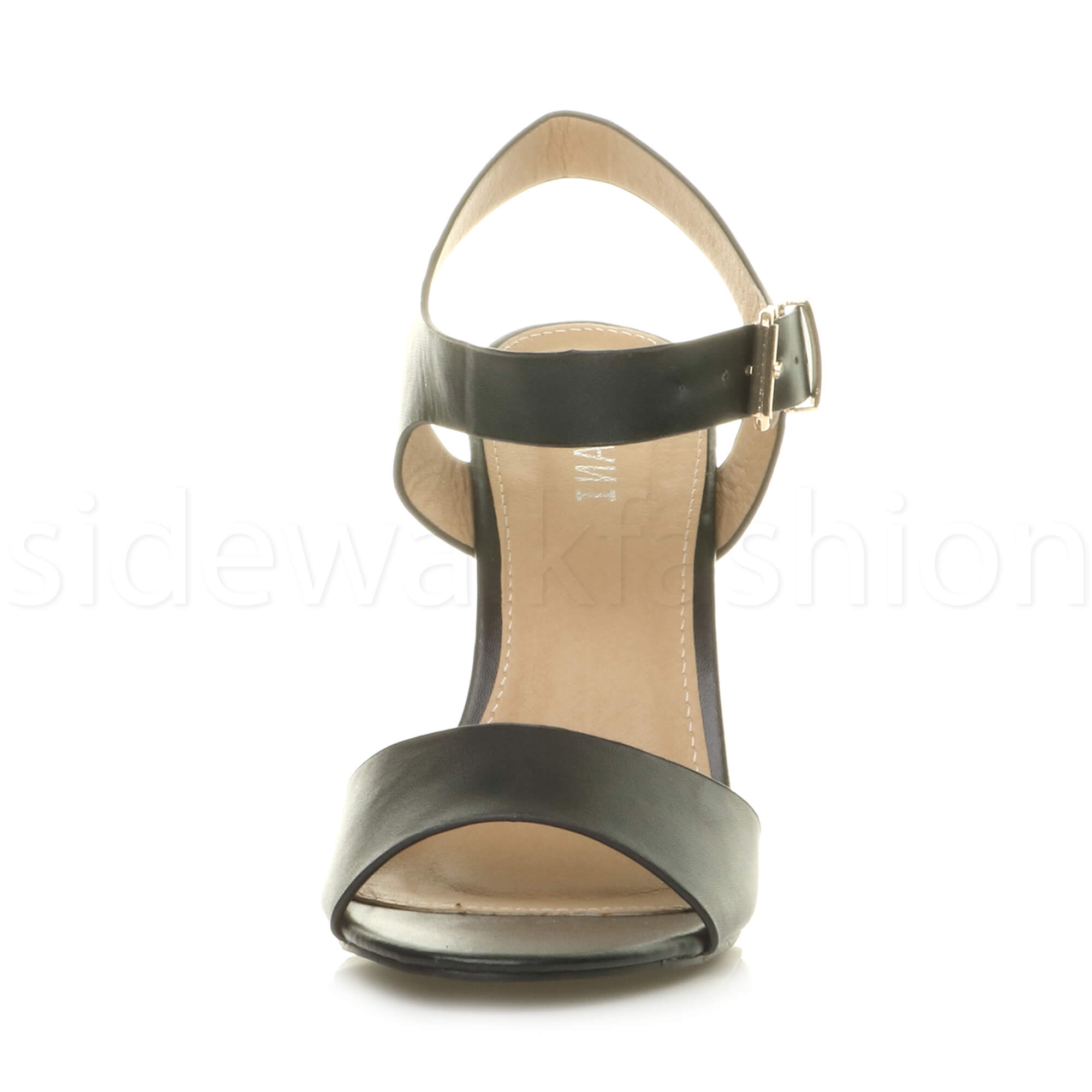 Womens-ladies-chunky-high-heel-buckle-strappy-barely-there-sandals-shoes-size thumbnail 6