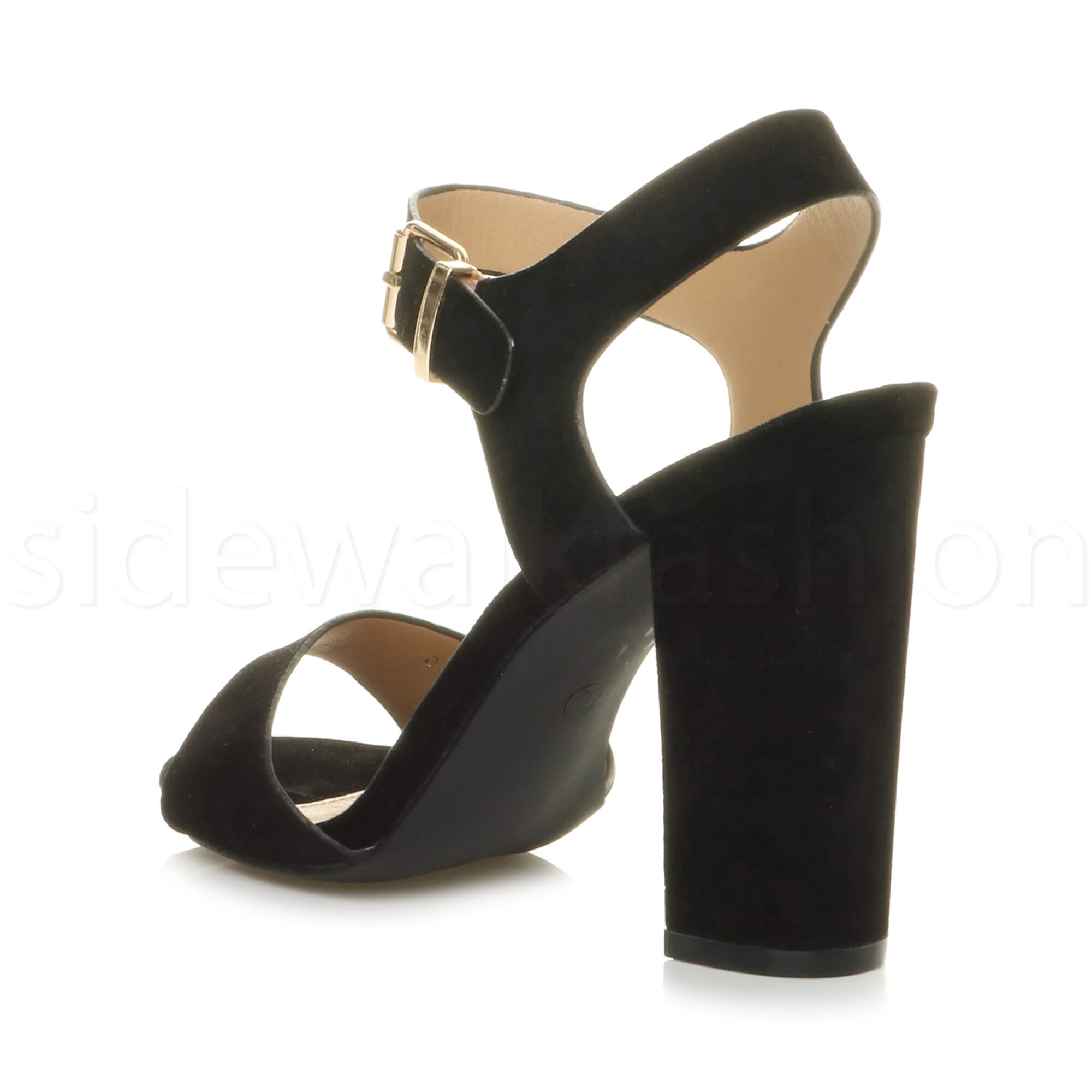 Womens-ladies-chunky-high-heel-buckle-strappy-barely-there-sandals-shoes-size thumbnail 10