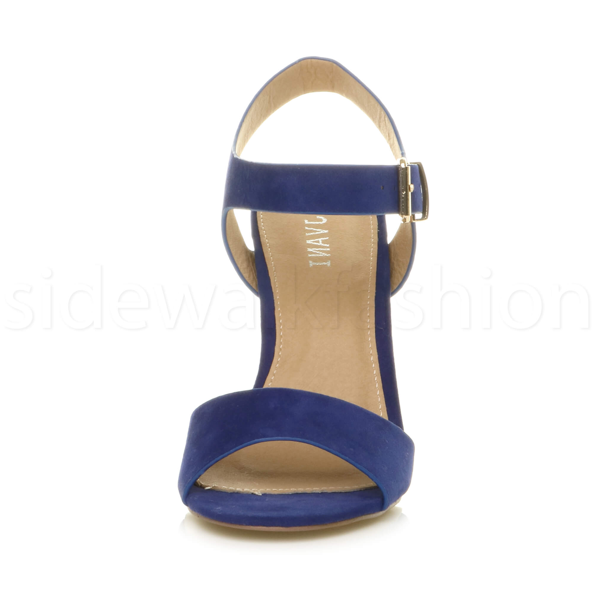 Womens-ladies-chunky-high-heel-buckle-strappy-barely-there-sandals-shoes-size thumbnail 16