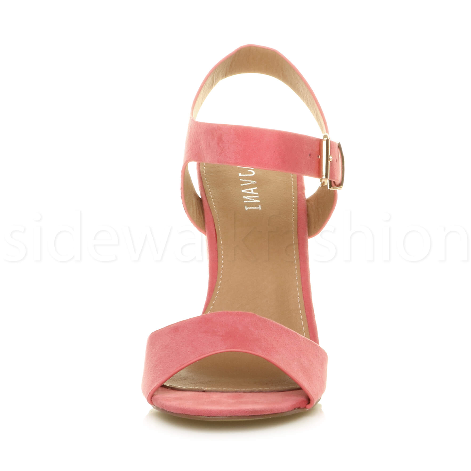 Womens-ladies-chunky-high-heel-buckle-strappy-barely-there-sandals-shoes-size thumbnail 21