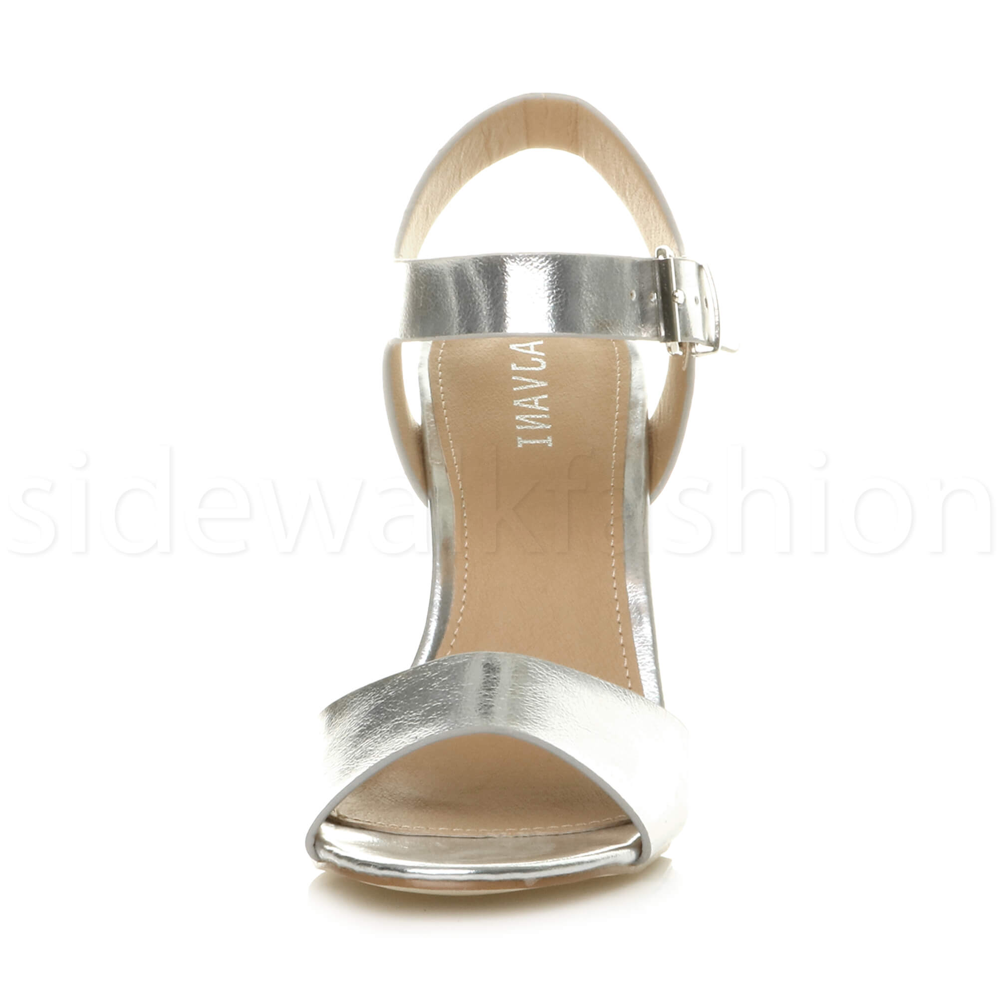 Womens-ladies-chunky-high-heel-buckle-strappy-barely-there-sandals-shoes-size thumbnail 51