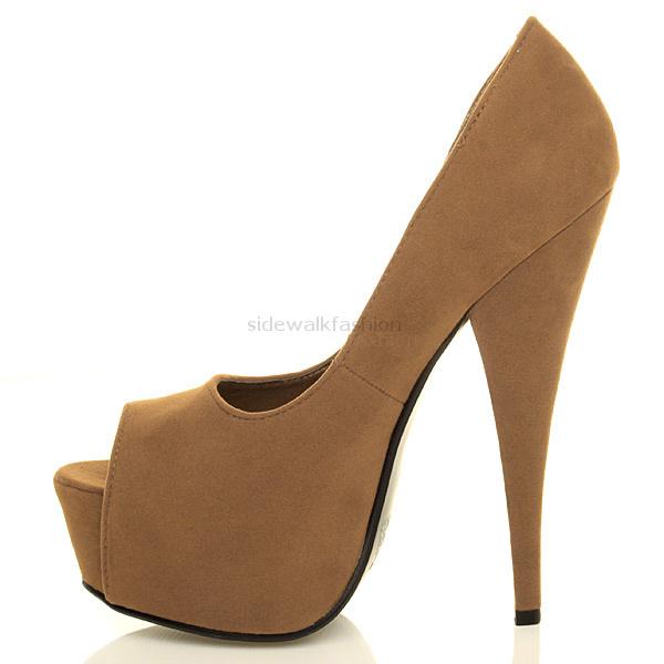 Womens-ladies-platform-pumps-stiletto-high-heel-peep-toe-party-court-shoes-size